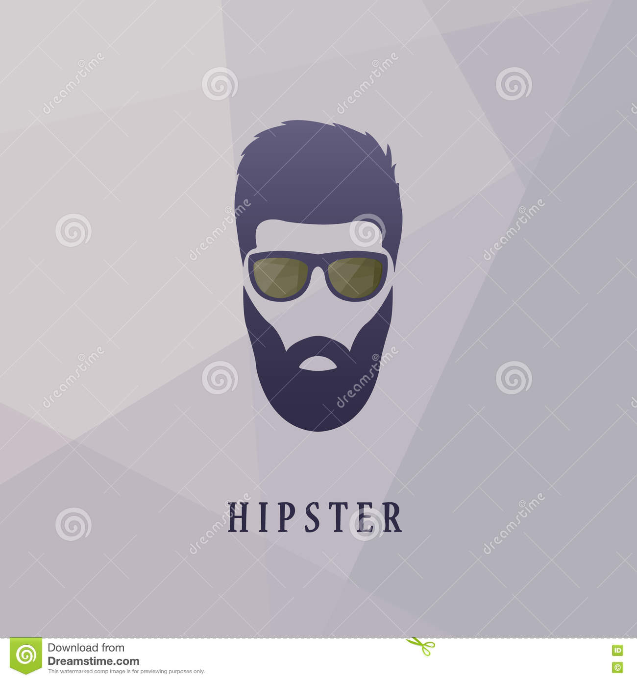 Gentleman Face Hipster Style Royalty Free Cartoon 83890433