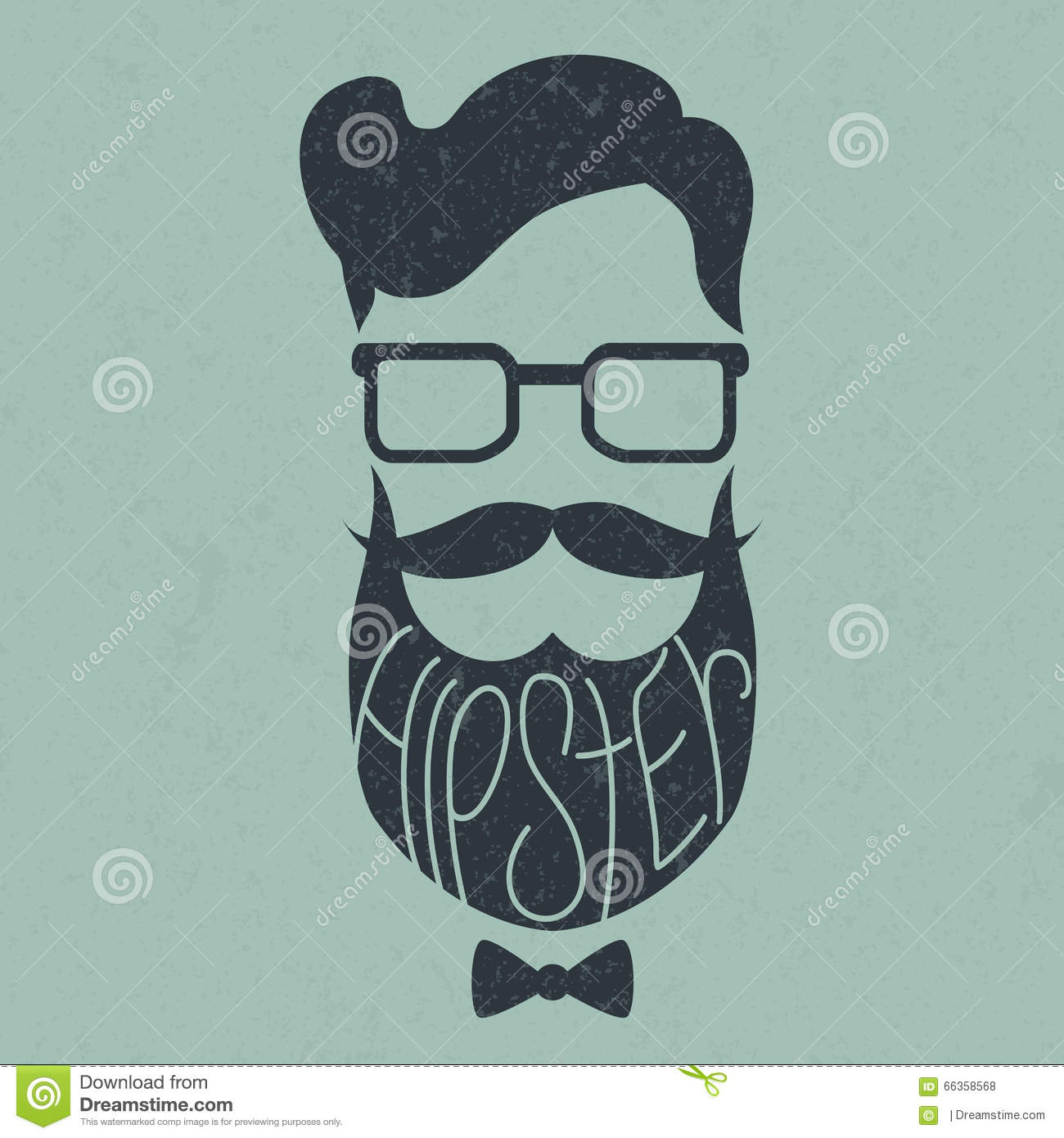 Fashion Silhouette Hipster Style Stock Vector Image