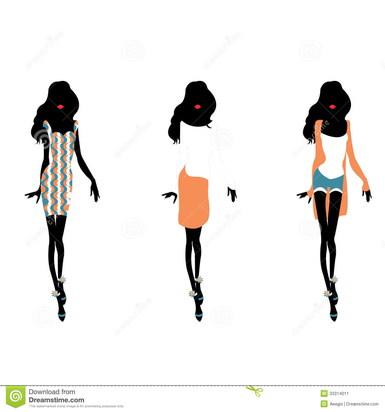 Fashion Silhouettes stock vector. Illustration of ...