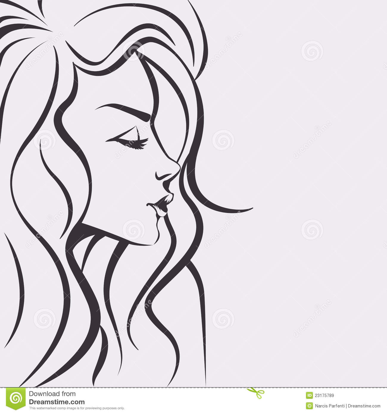 Fashion Sketch - Beautiful Woman Face Royalty Free Stock Images - Image 23175789-3792