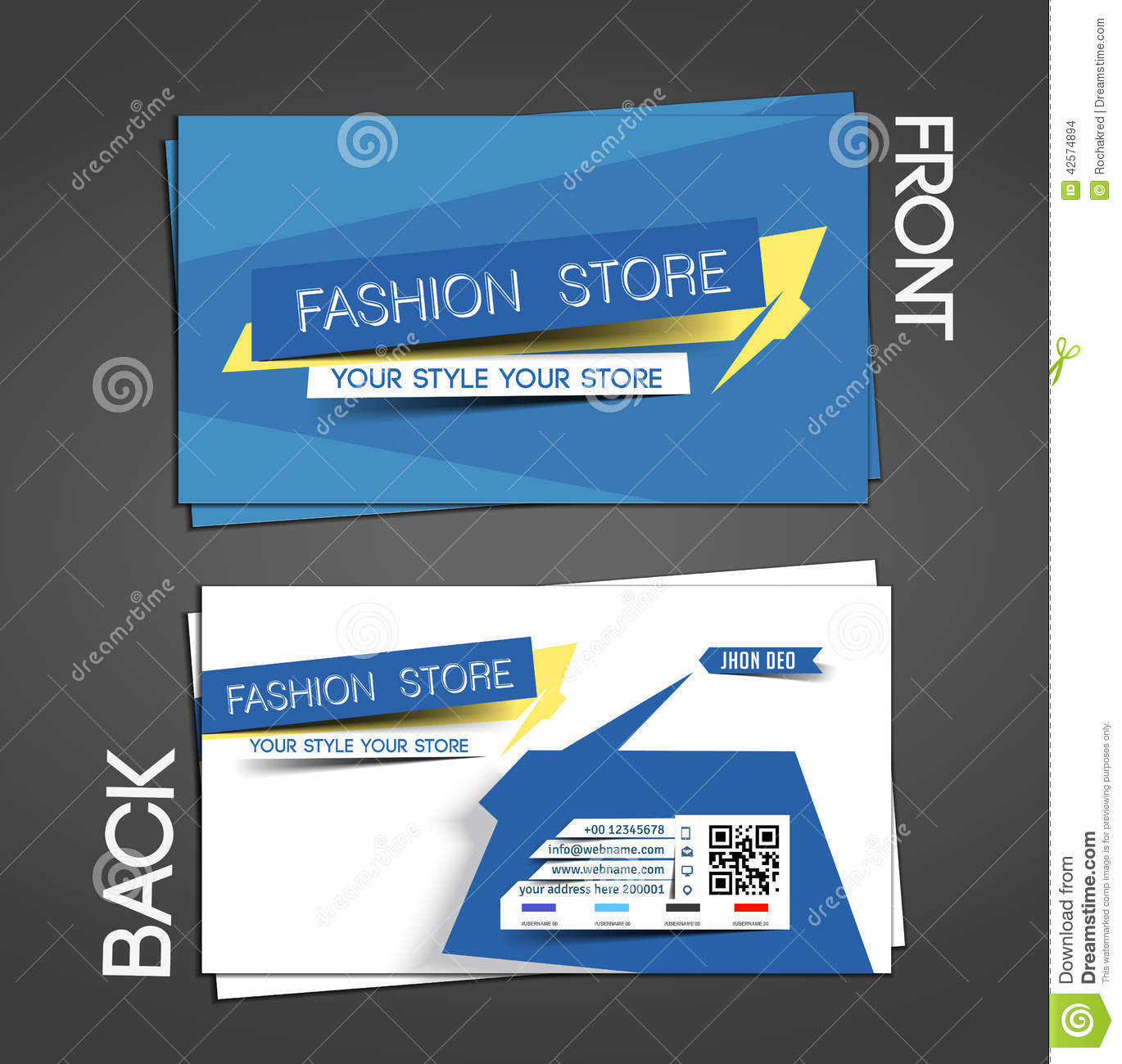 Fashion Store Business Card Stock Vector - Illustration of ...