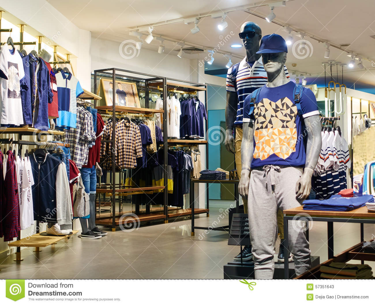 Men Clothing Shop Clothes Store Editorial Stock Photo - Image of ...