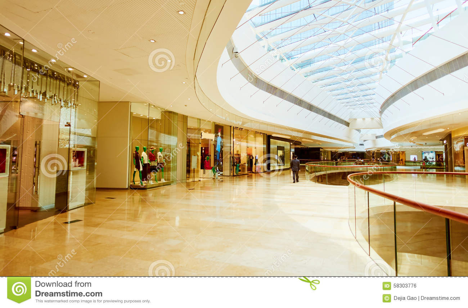 Shopping Mall Center Stock Photo Image 58303776