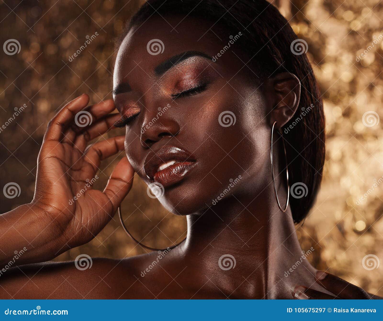 Fashion Studio Portrait Of An Extraordinary Beautiful African