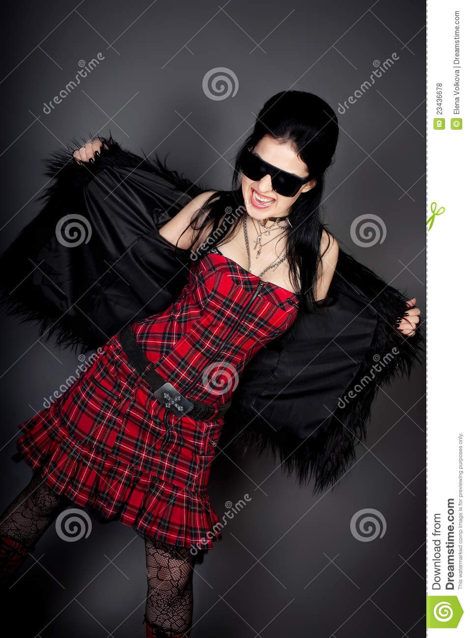 Fashion Style Photo Of Young Woman In Studio Royalty Free