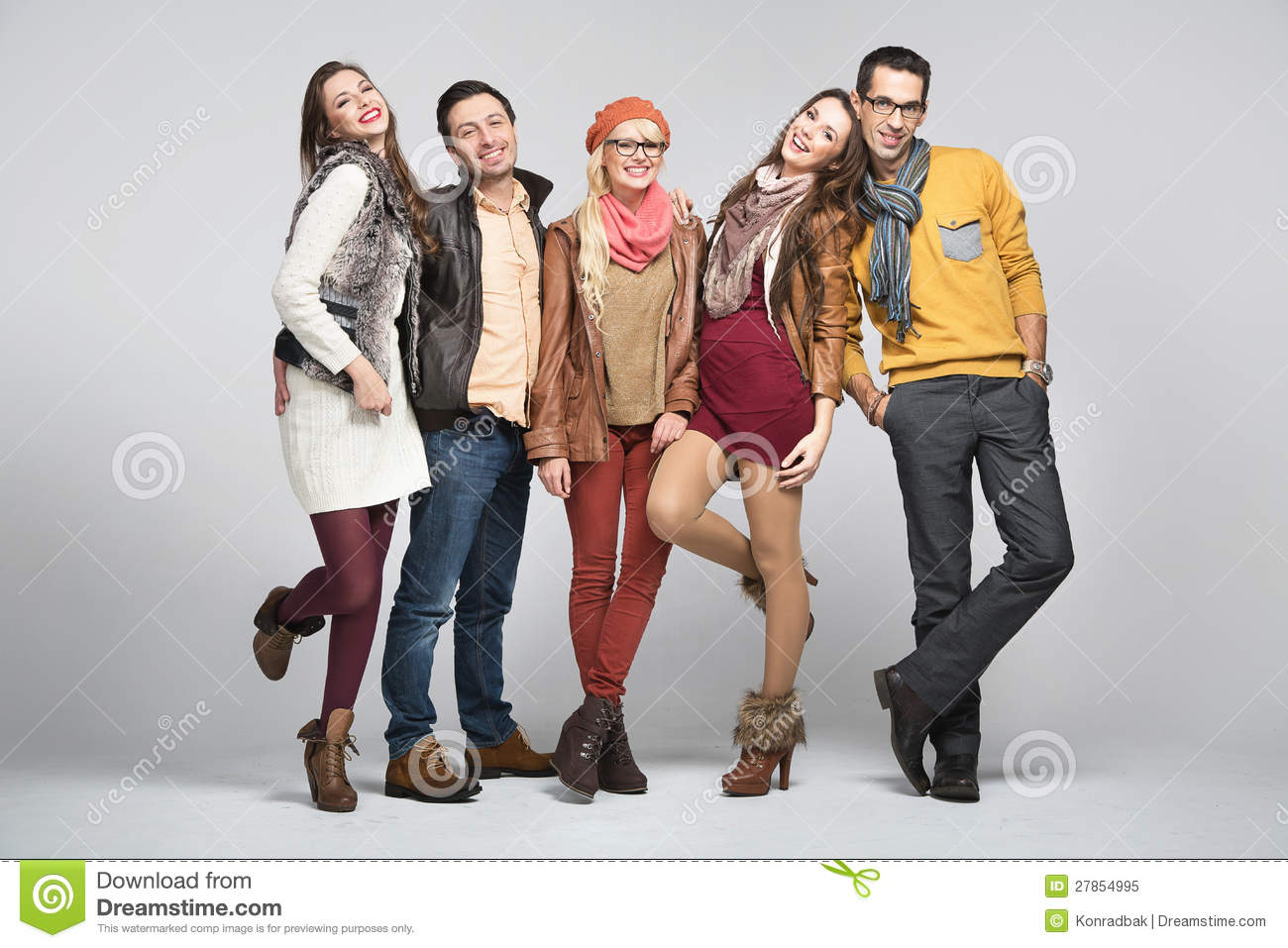 Fashion Style Picture Of Friends Stock Image Image Of Autumn Fall 27854995