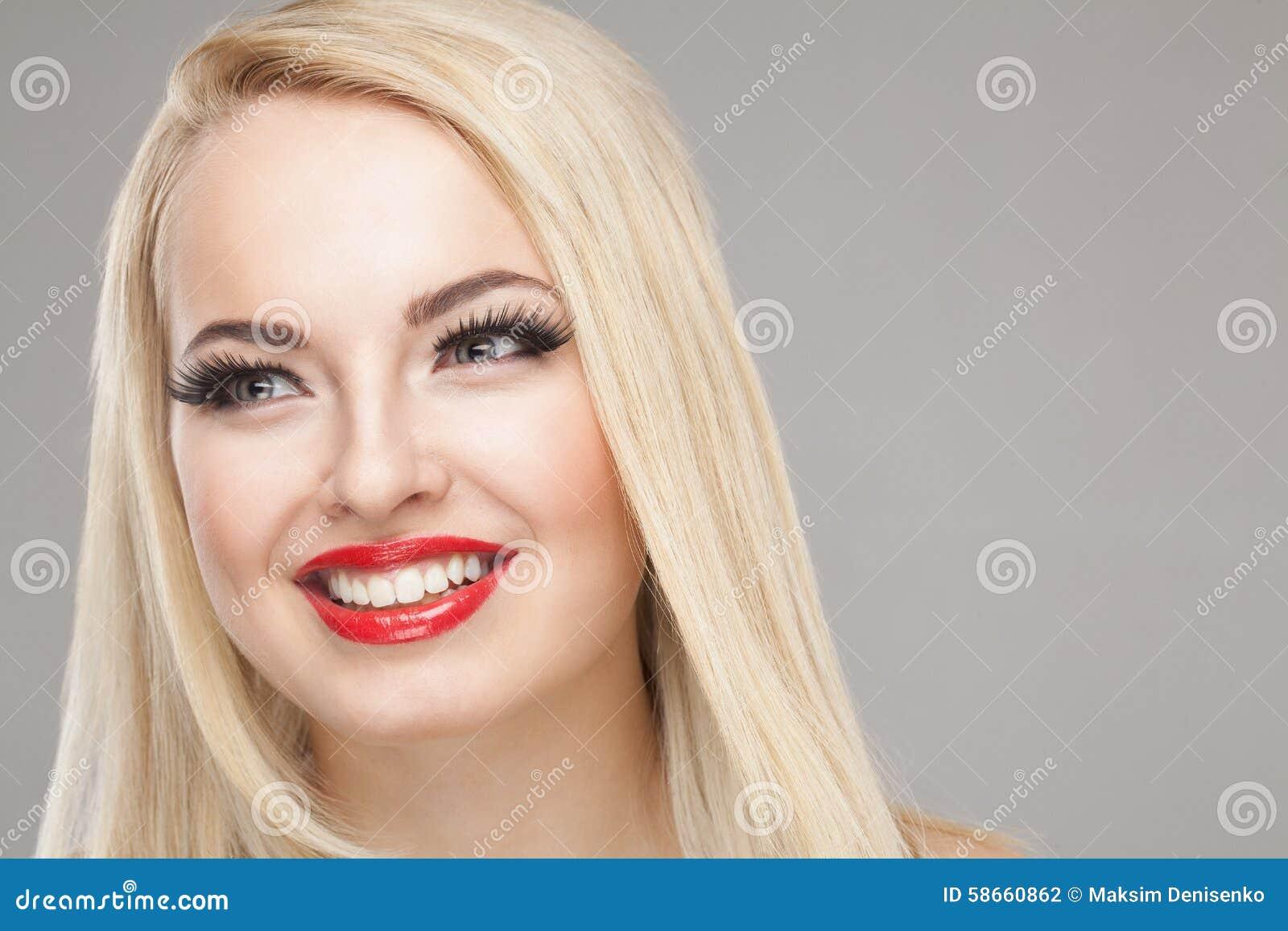 Fashion Stylish Beauty Portrait Of Smiling Beautiful Blonde Girl
