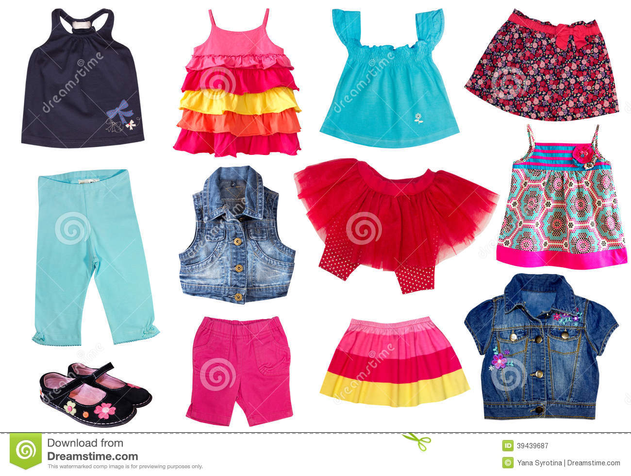 Fashion Summergirl Clothes. Stock Photo - Image: 39439687