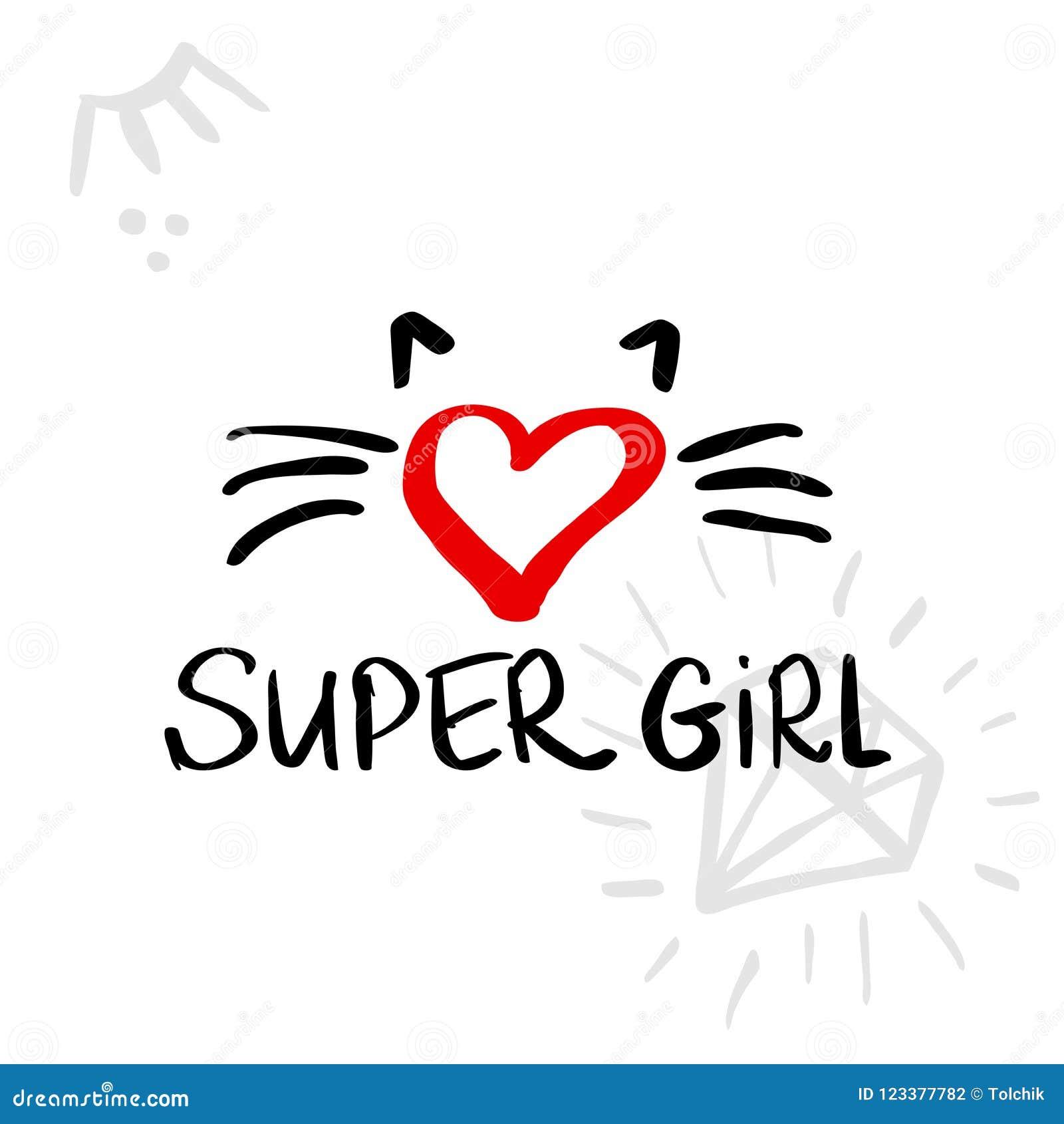 Fashion Super Girl Background With Brush Strokes Vector Illustr