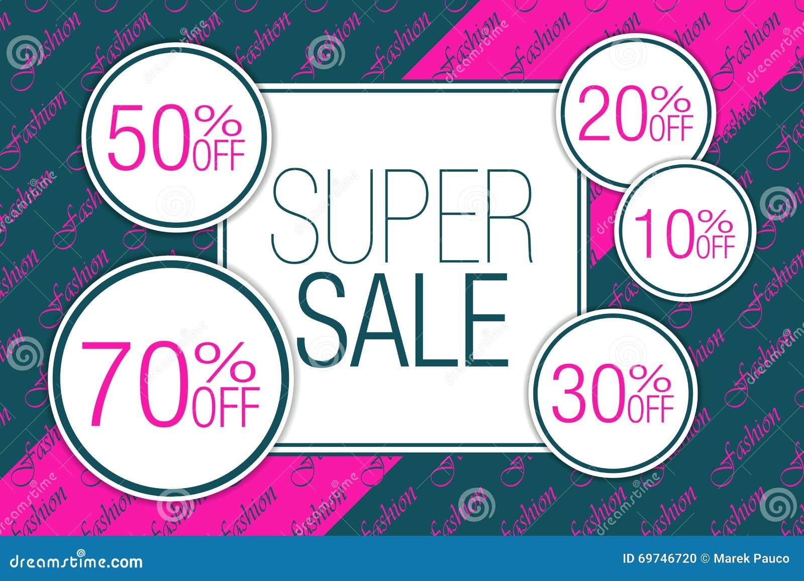 e137ec863f Fashion Super Sale Design Card Stock Vector - Illustration of ...