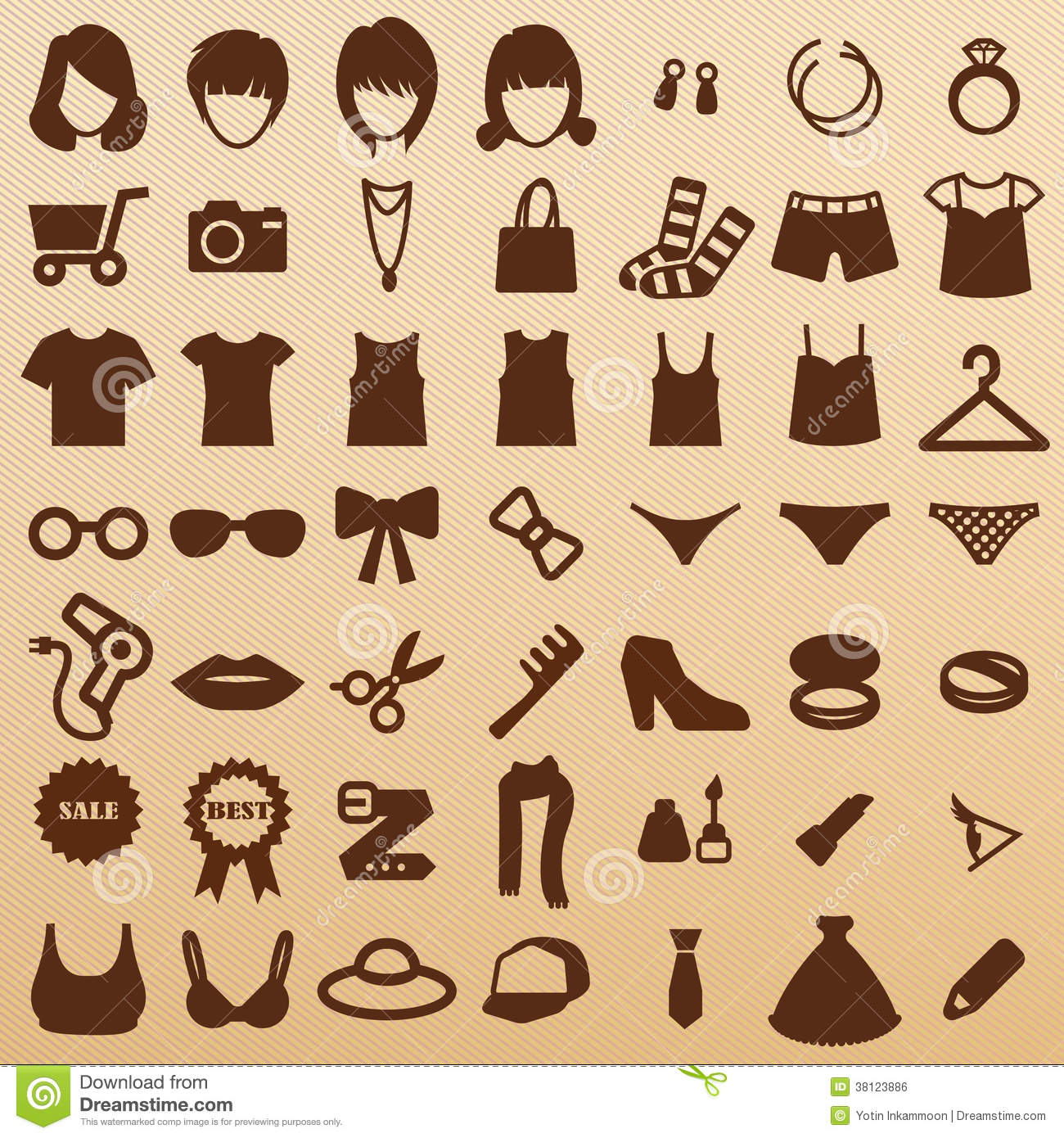 Fashion Symbols Royalty Free Stock Image Image 38123886