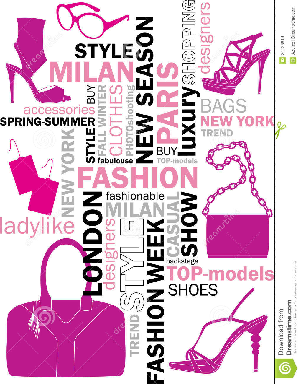 Fashion Words Stock Vector Illustration Of Keywords
