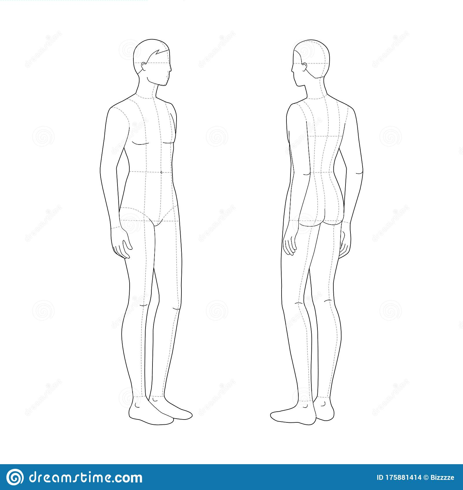 Fashion Template Of Standing Men Stock Vector Illustration Of Design Illustration 175881414