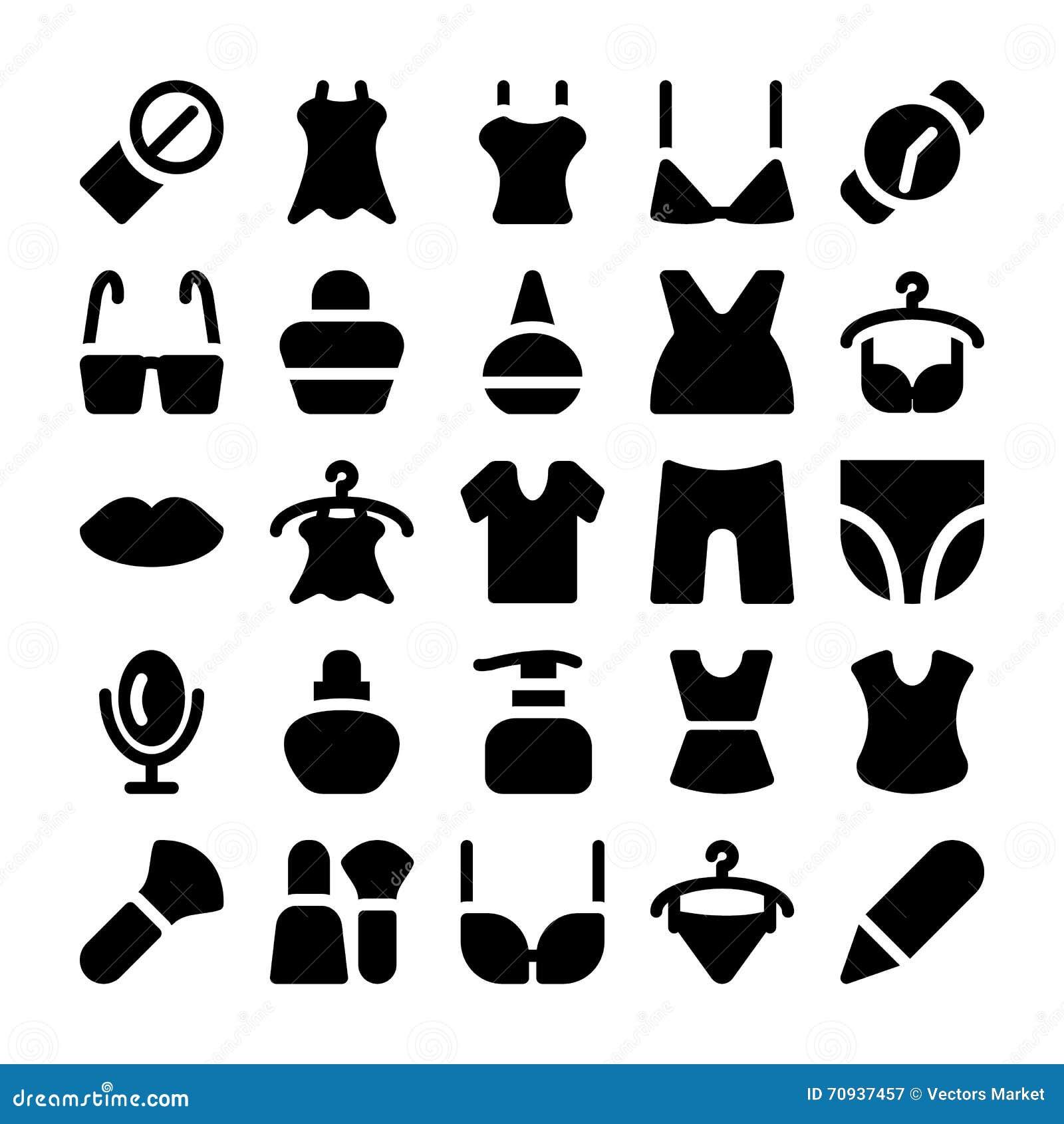 Fashion Vector Icons 10 stock illustration. Illustration of