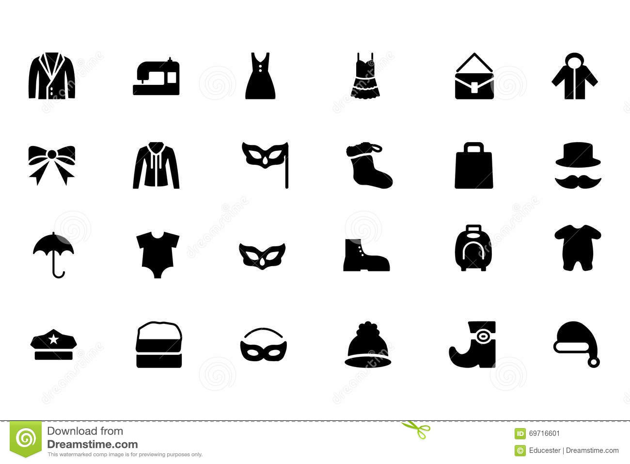 Fashion Vector Icons 4 Stock Image Image Of Masquerade 69716601