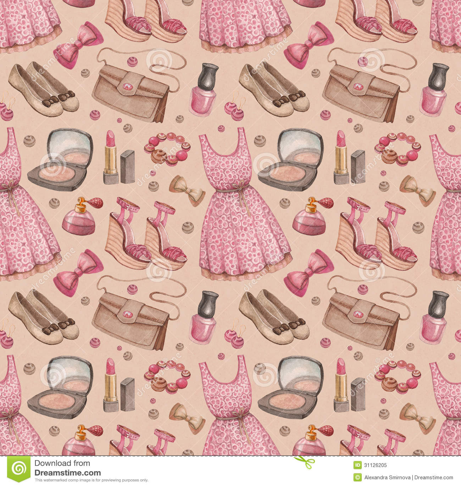 Fashion Watercolor Pattern Stock Illustration Illustration Of Lady 31126205