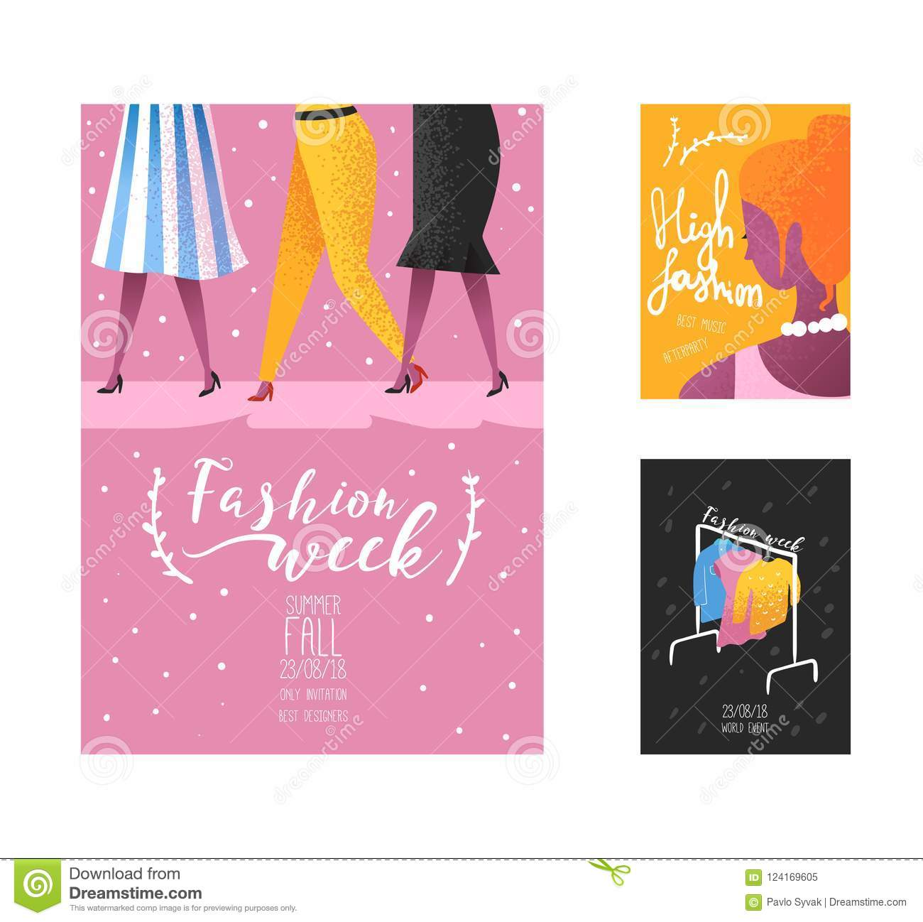 Fashion Week Poster, Banner Template, Placard, Brochure ...