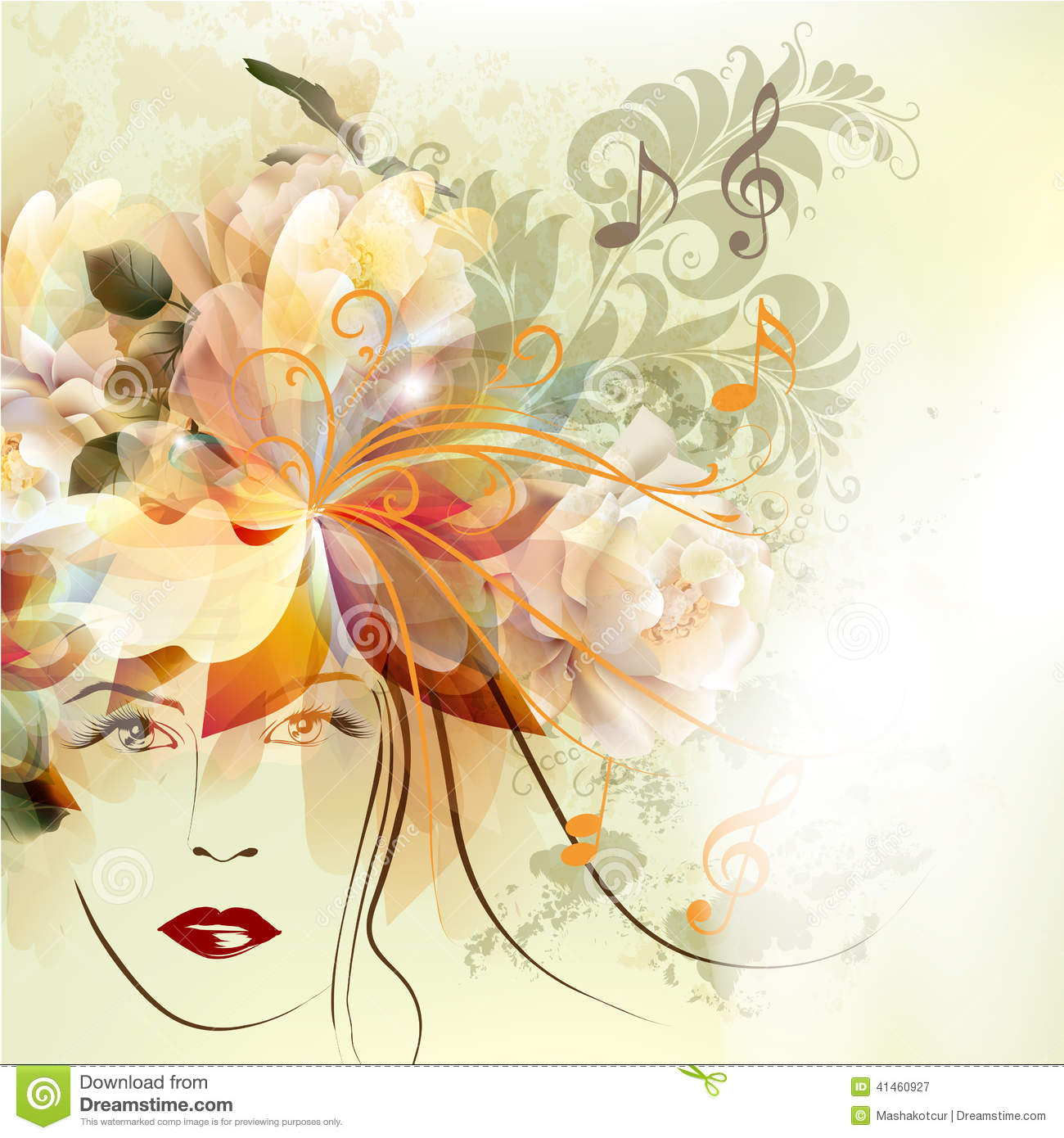 flower girl vector abstract - photo #5