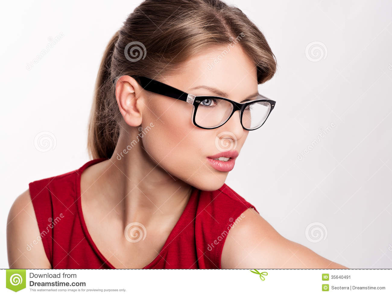 fashion optical glasses  Fashion Woman In Eyeglasses Stock Image - Image: 35640491