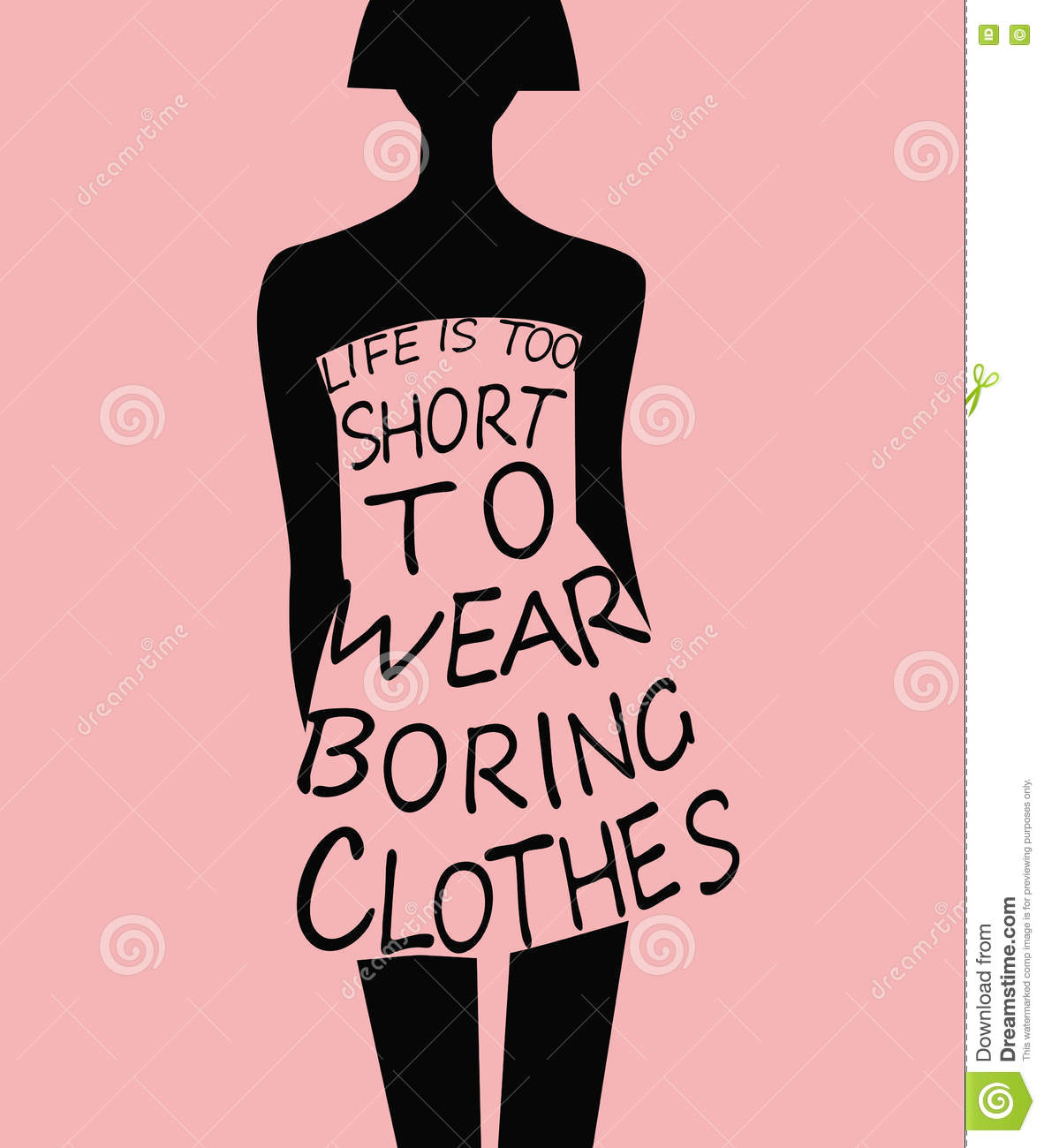 Fashion Woman Silhouette With Quote Stock Vector Image
