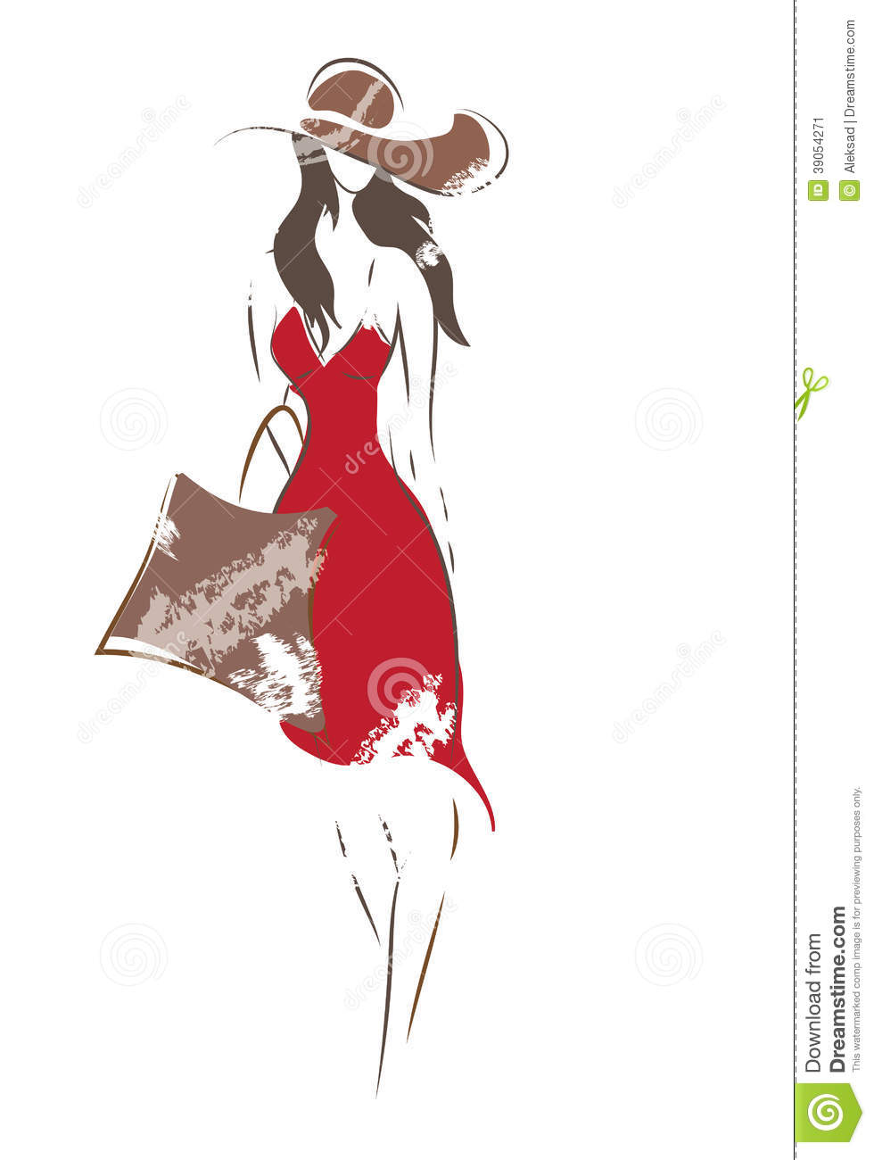 Fashion Woman Sketch stock vector. Image of style ...