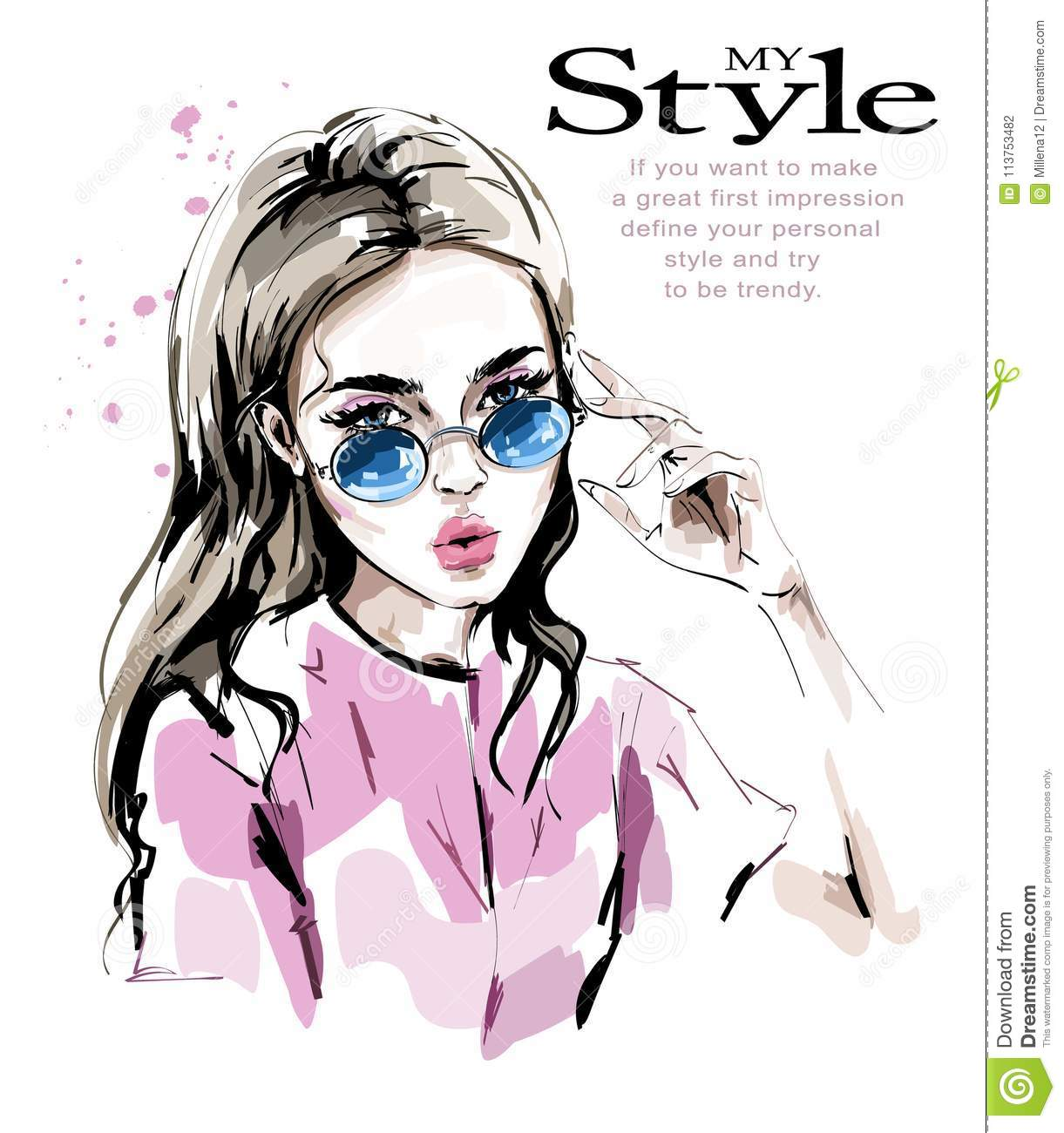 Look Cartoons Illustrations Vector Stock Images