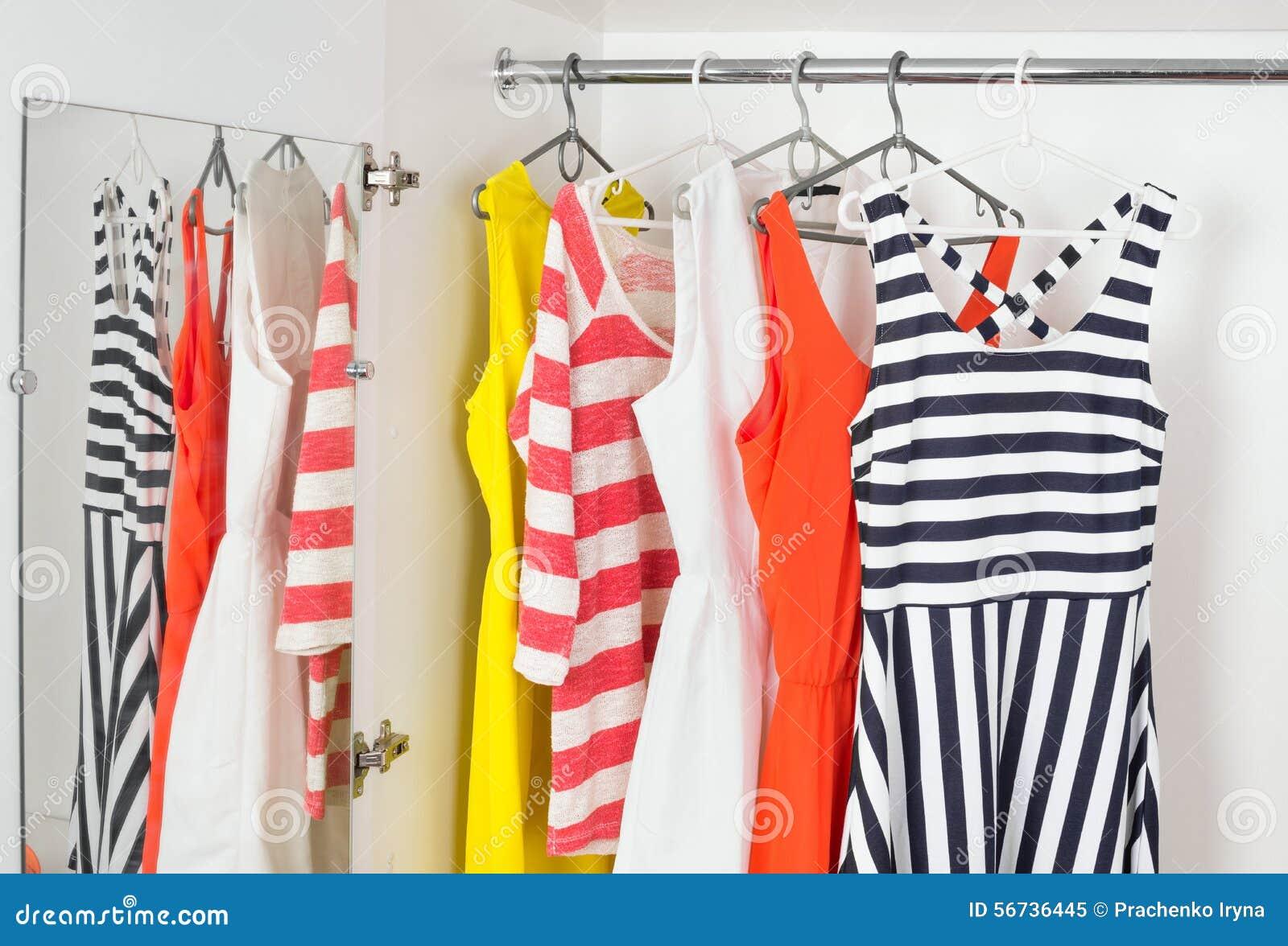 033cdb403fa Fashion Women s Dresses On Hangers Stock Image - Image of fashion ...