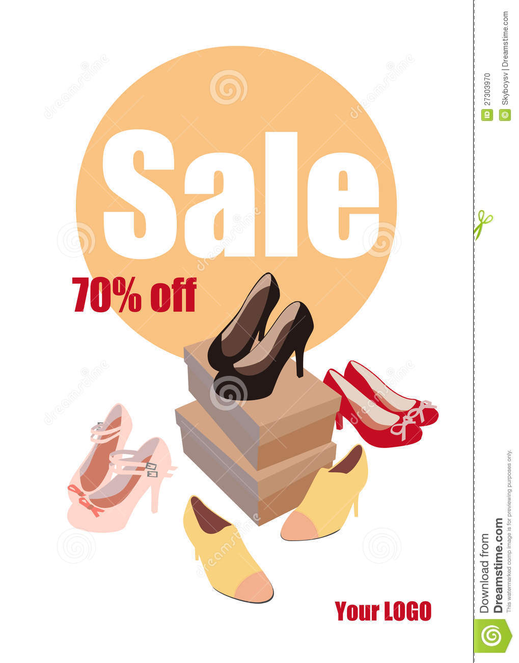 Stock Photo: Fashion women shoes on sale