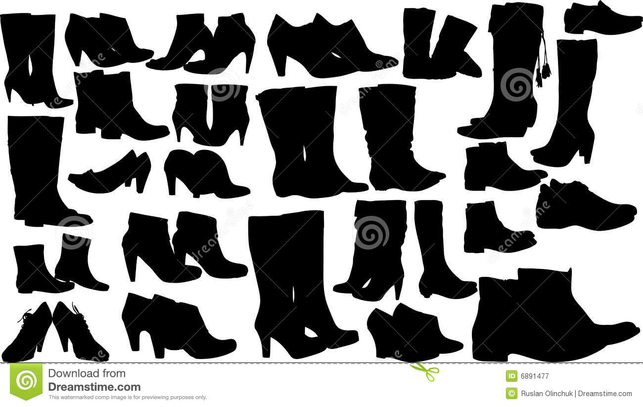 Royalty Free Stock Photography: Fashion women shoes vector