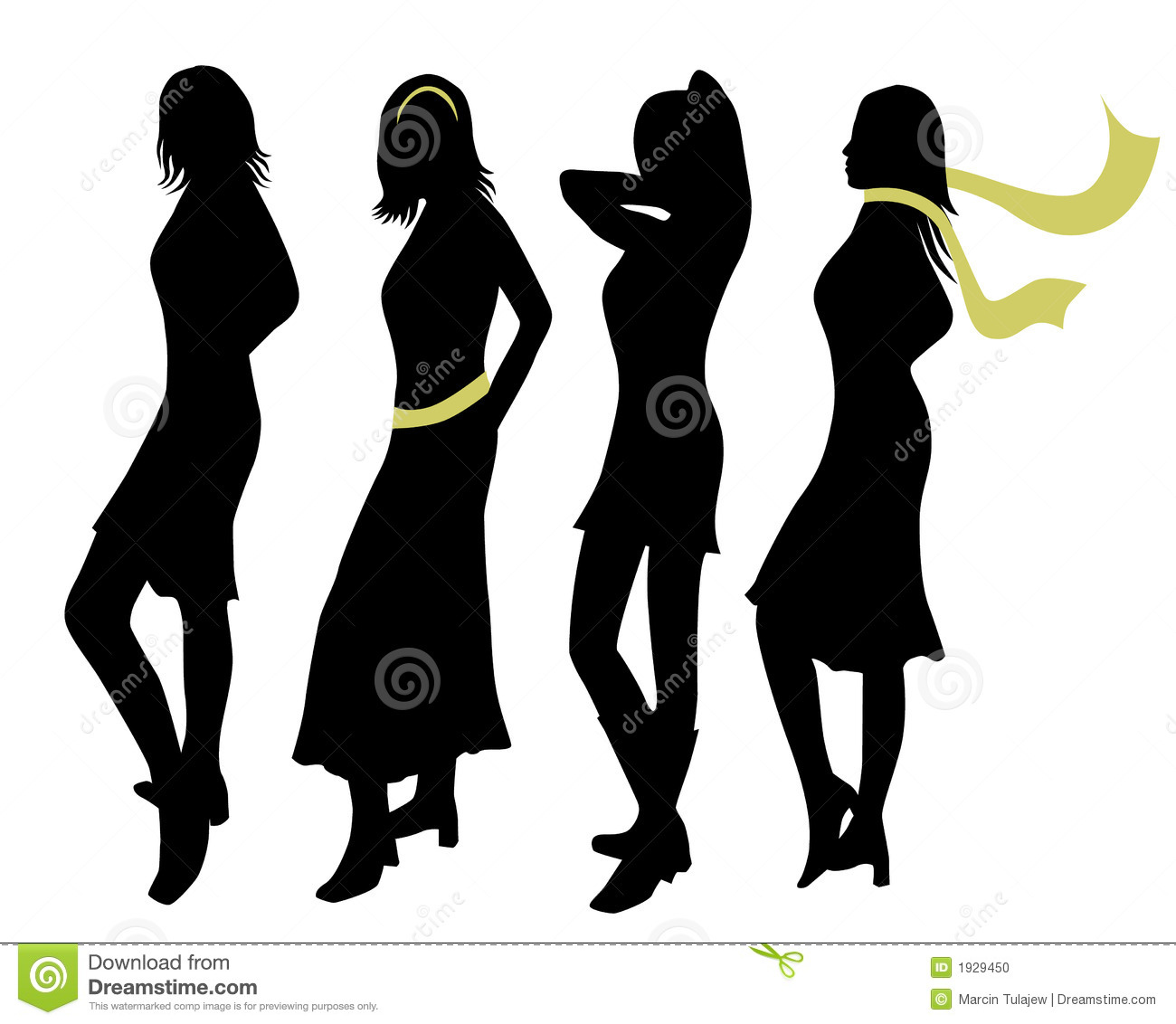 Fashion women silhouettes stock vector. Image of girl ...
