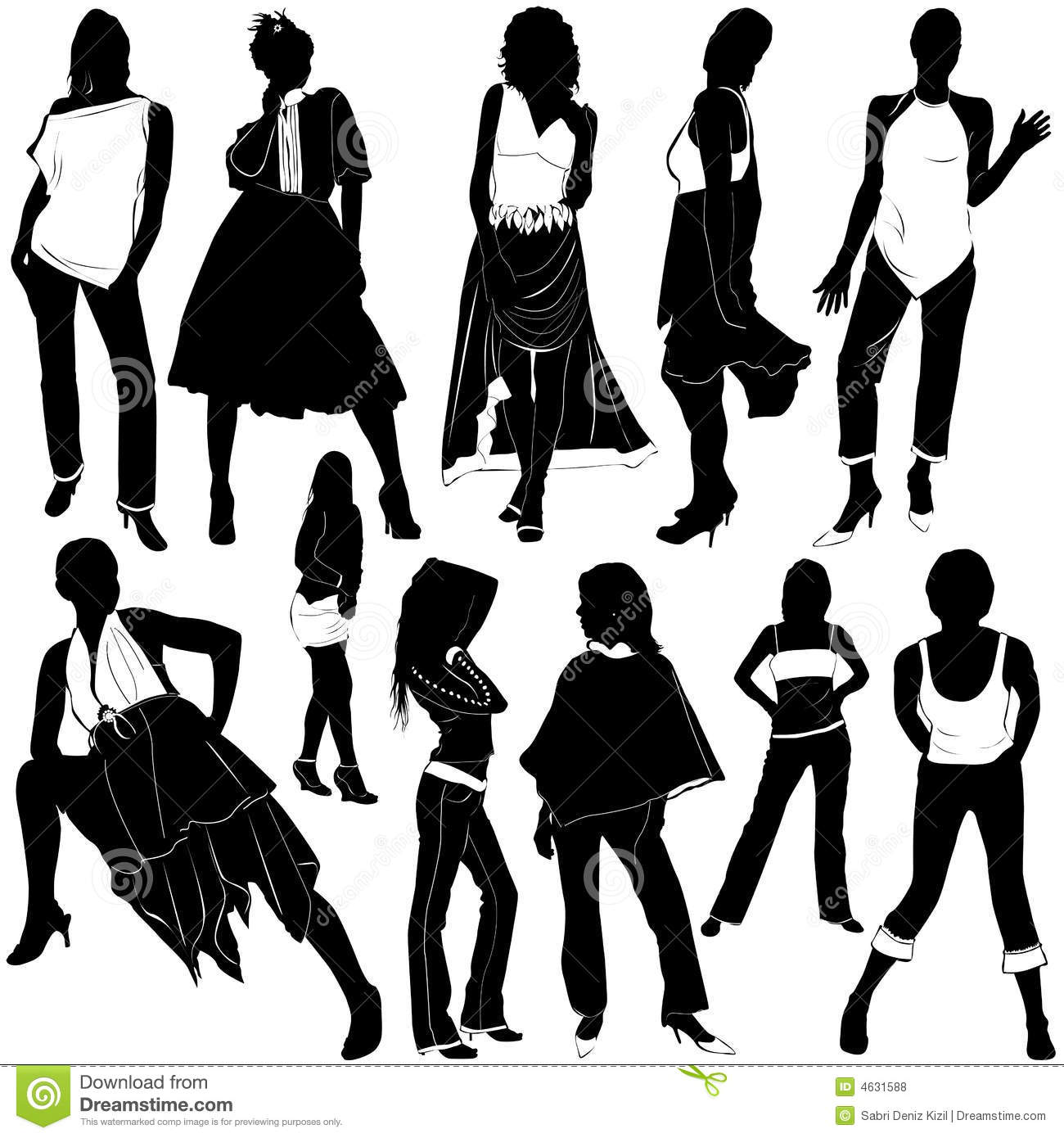 Fashion Women Vector 3 Stock Vector Illustration Of Shoes 4631588