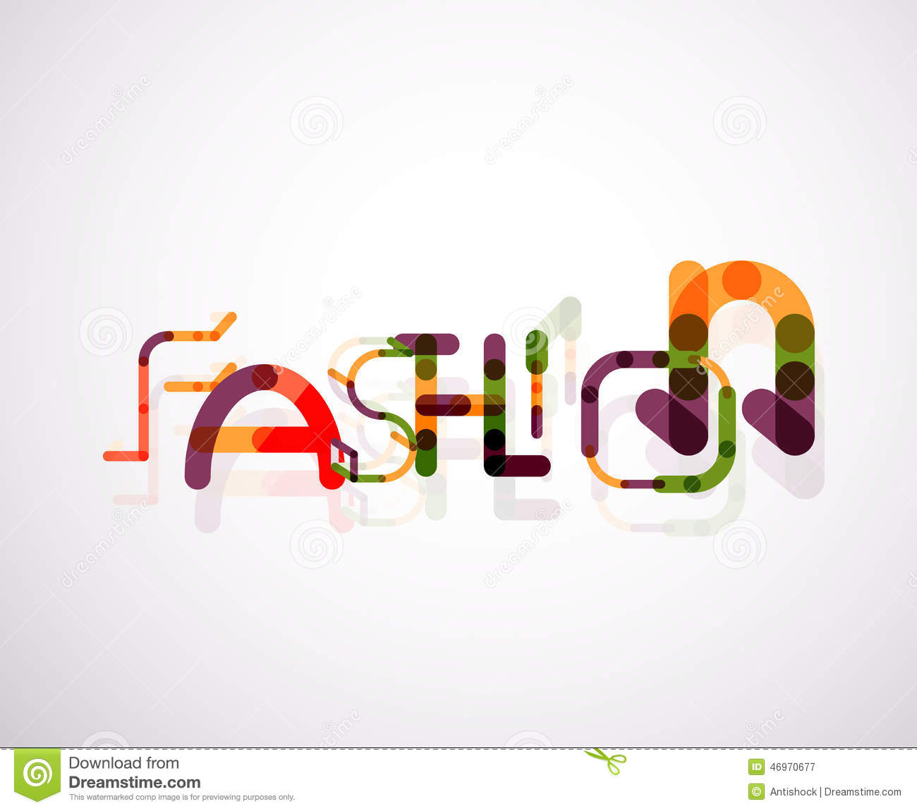 fashion word font concept stock vector image of font
