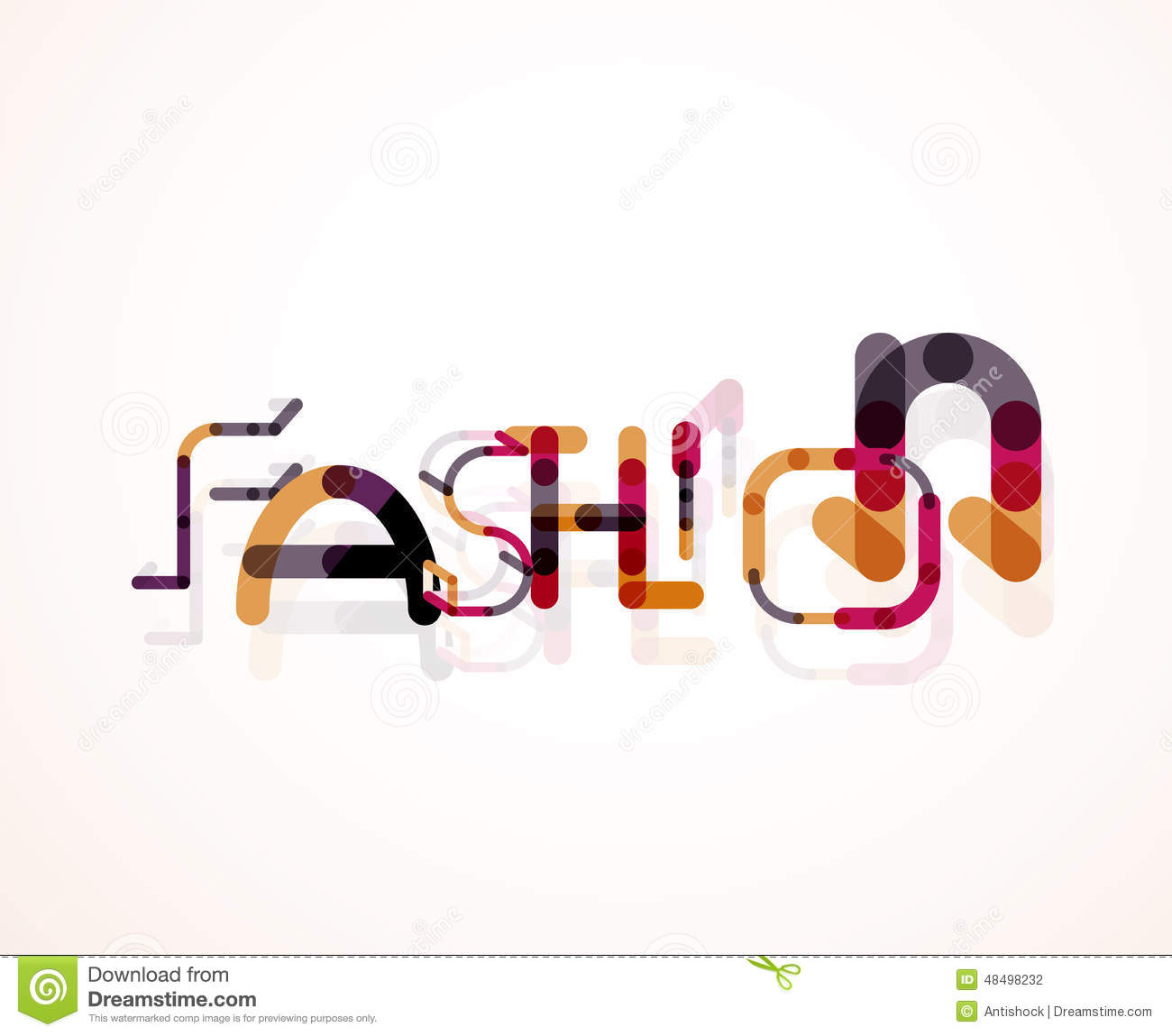fashion word font concept stock vector image 48498232