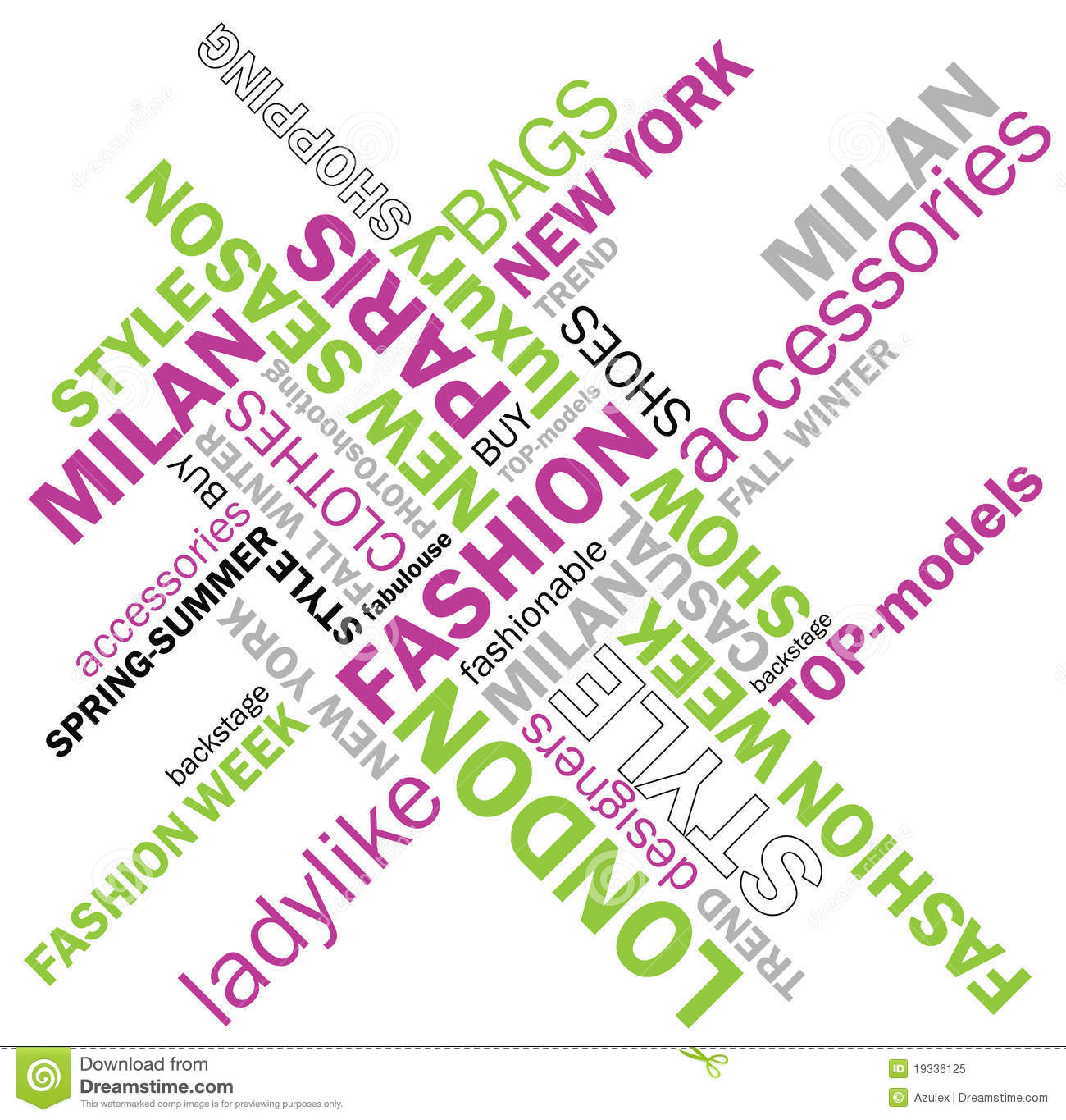 fashion words stock vector image of designers spring