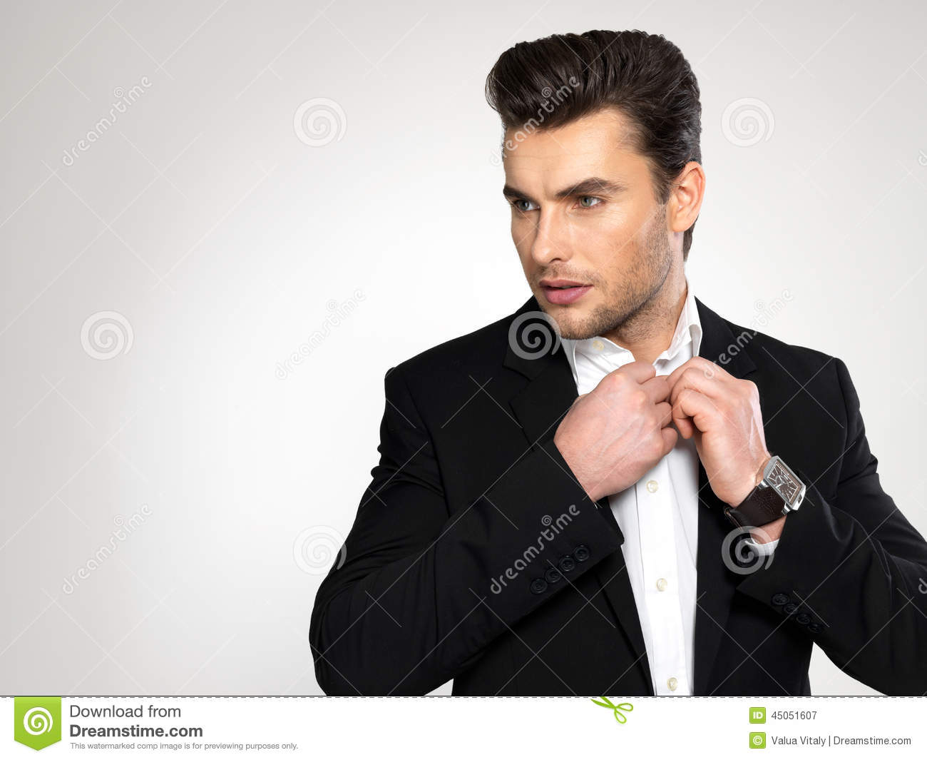 Fashion young businessman in