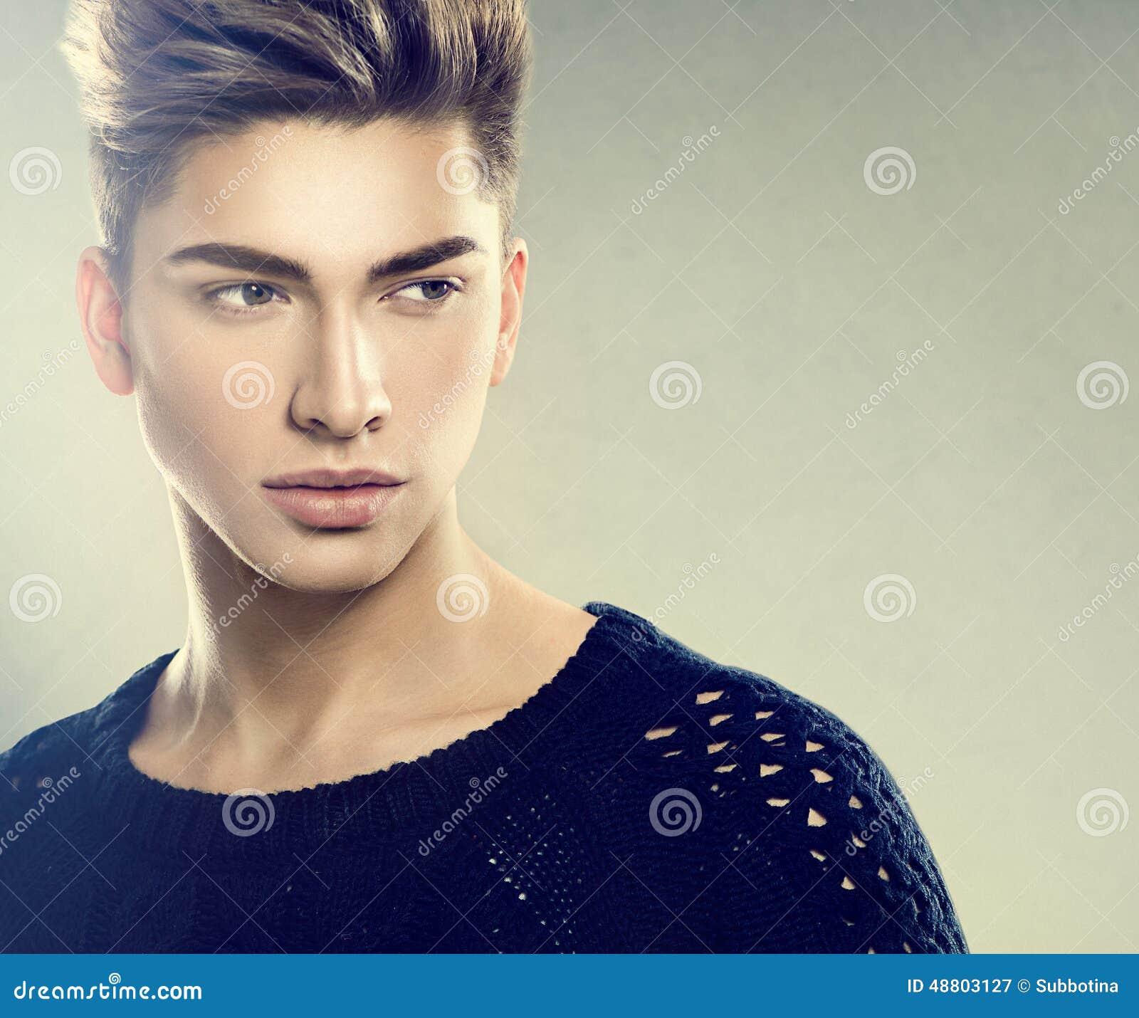 Fashion Young Model Man Portrait Stock Photo Image 48803127