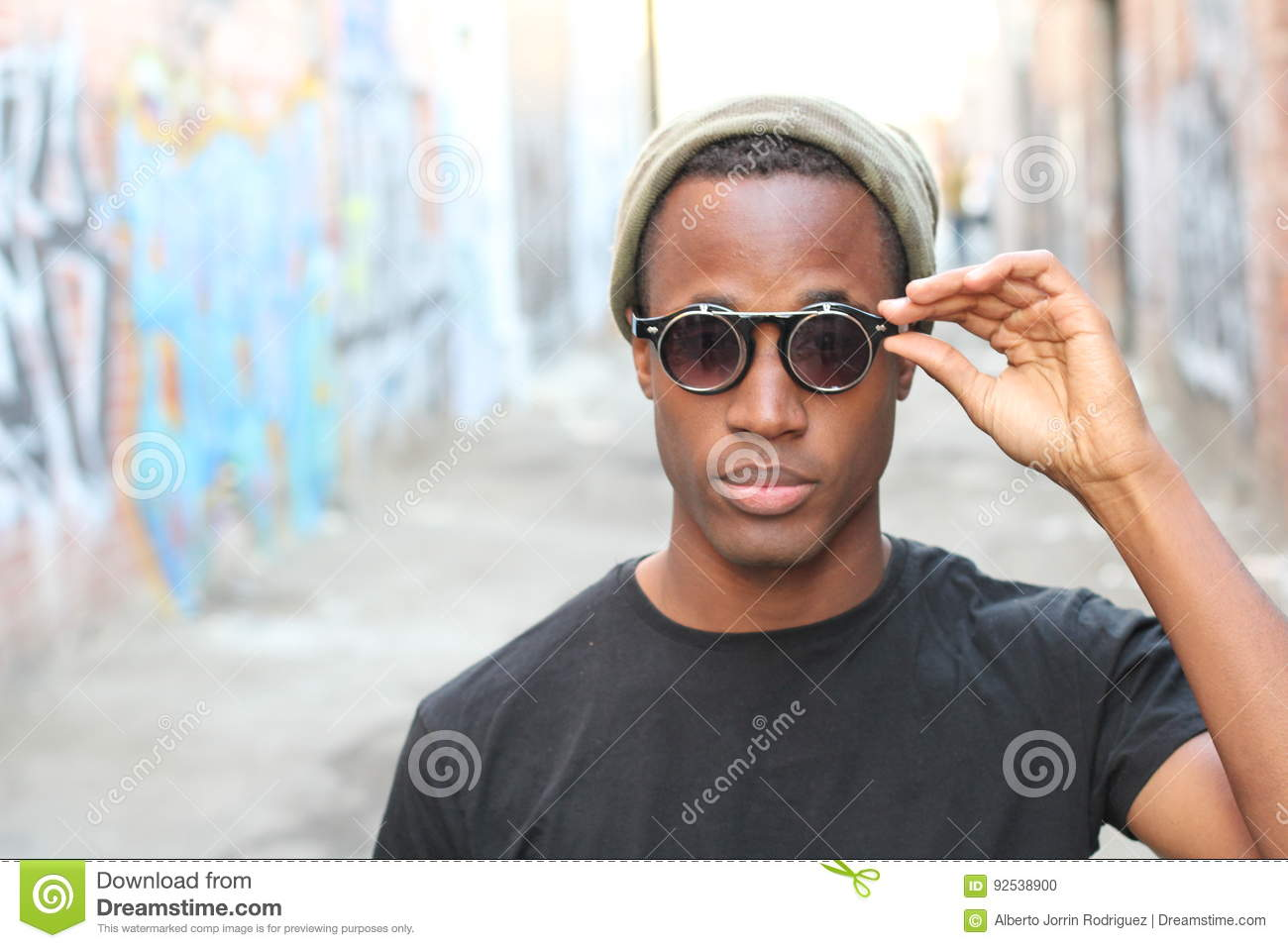 c402a62bc6d Fashionable African Man Wearing A Sunglasses