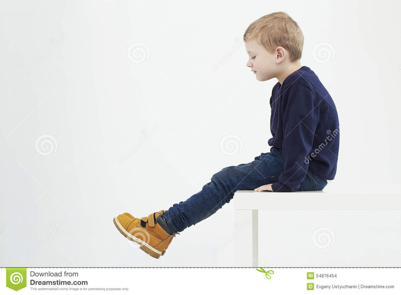 Fashionable Child In Yellow Boots Fashion Kids Little Boy