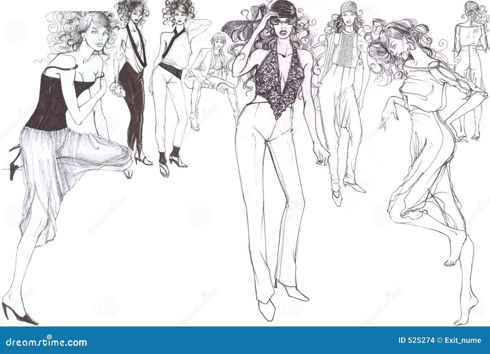 Fashionable glamorous models
