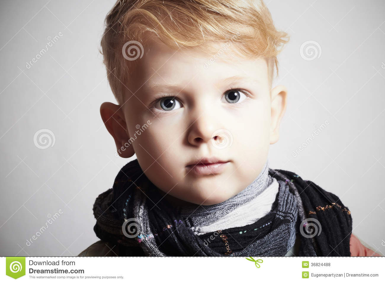 Fashionable handsome little boy in stock photo image 36824488 - Coupe cheveux enfant ...