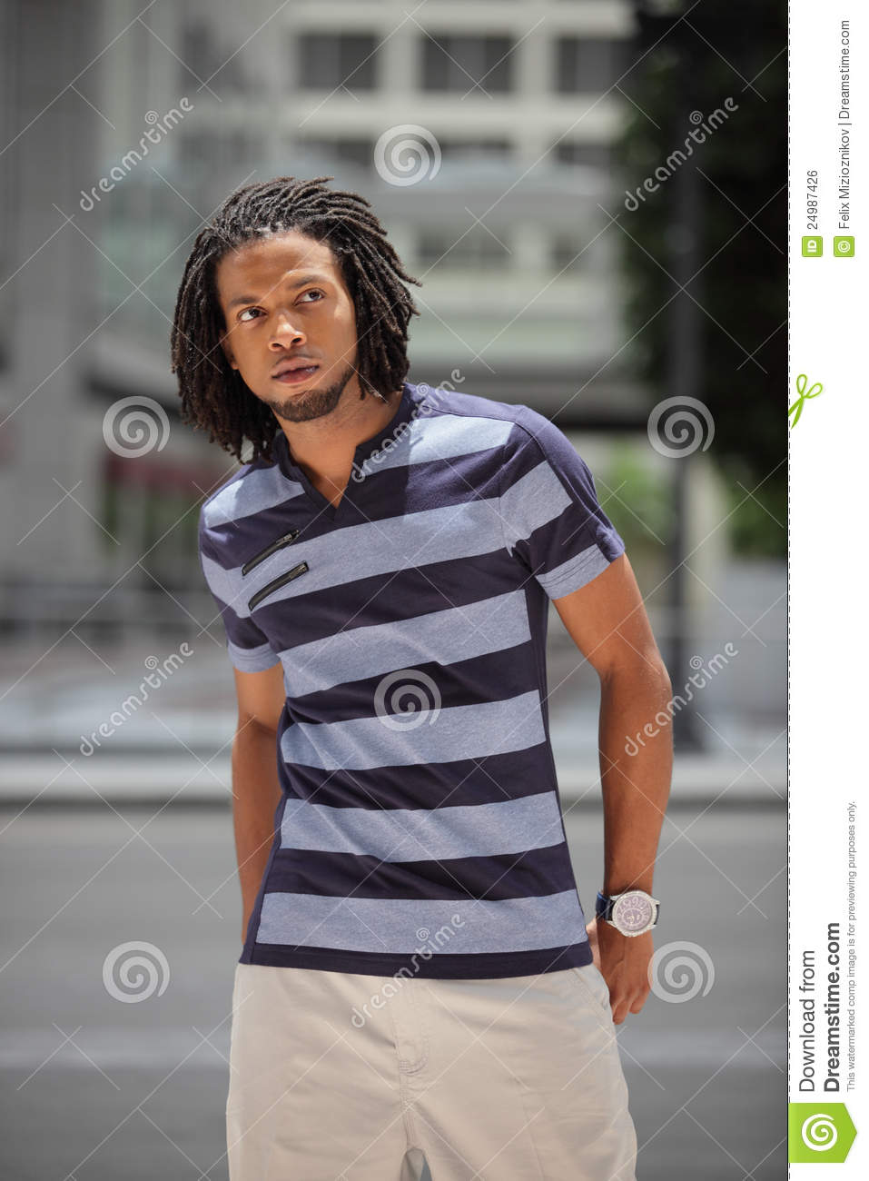Fashionable Jamaican Male Model Stock Photo Image 24987426