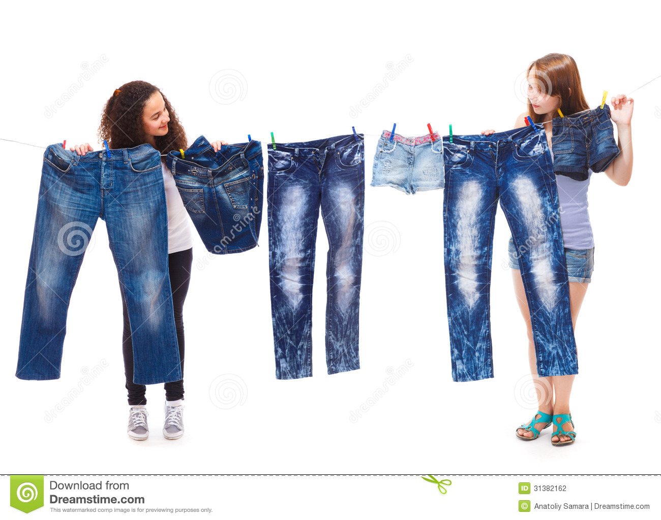 Fashionable Jeans Wear Stock Photography - Image: 31382162