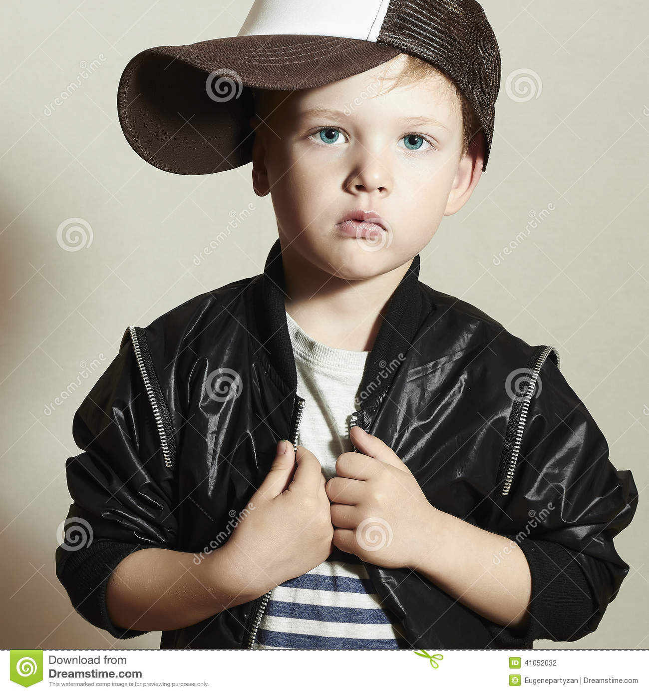 Fashionable little boy.Hip-Hop Style. fashion chil