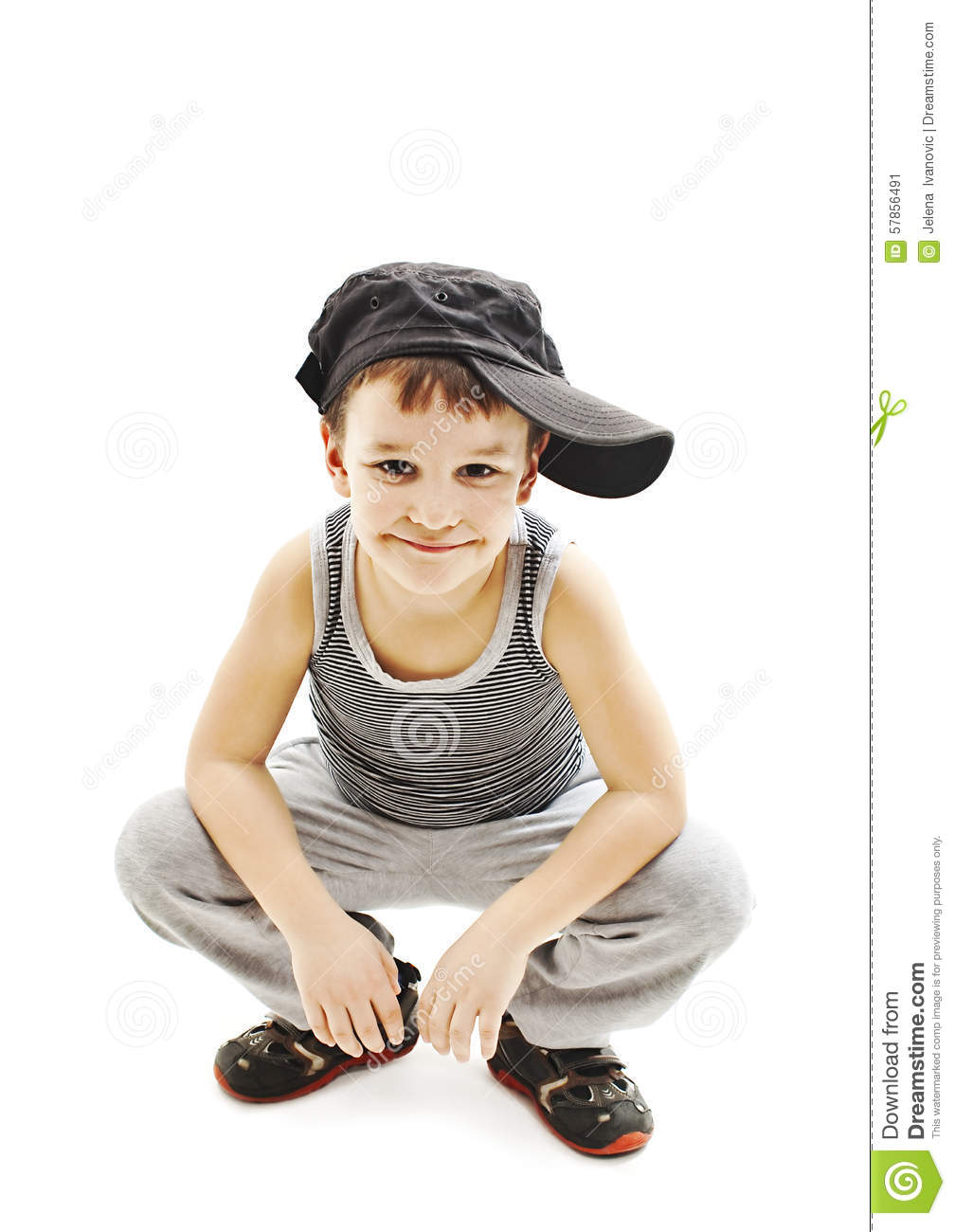 Stylish baby boy with hat