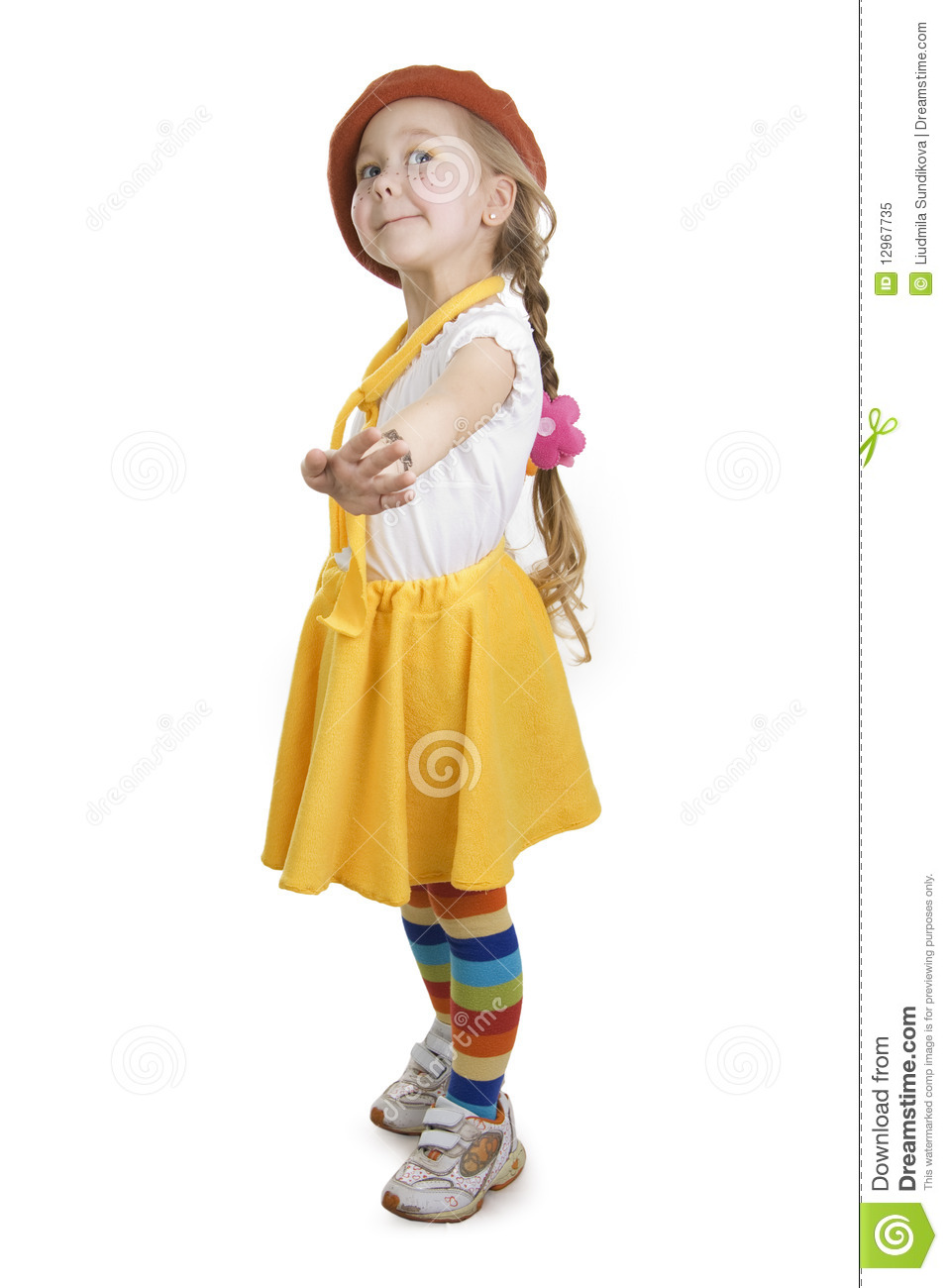 fashionable little girl royalty free stock photo image