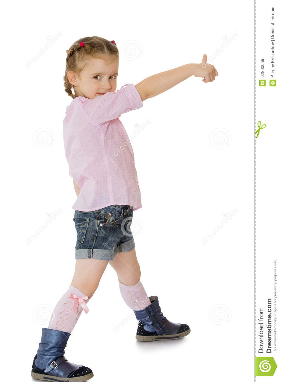 fashionable little girl stock photo image of happy