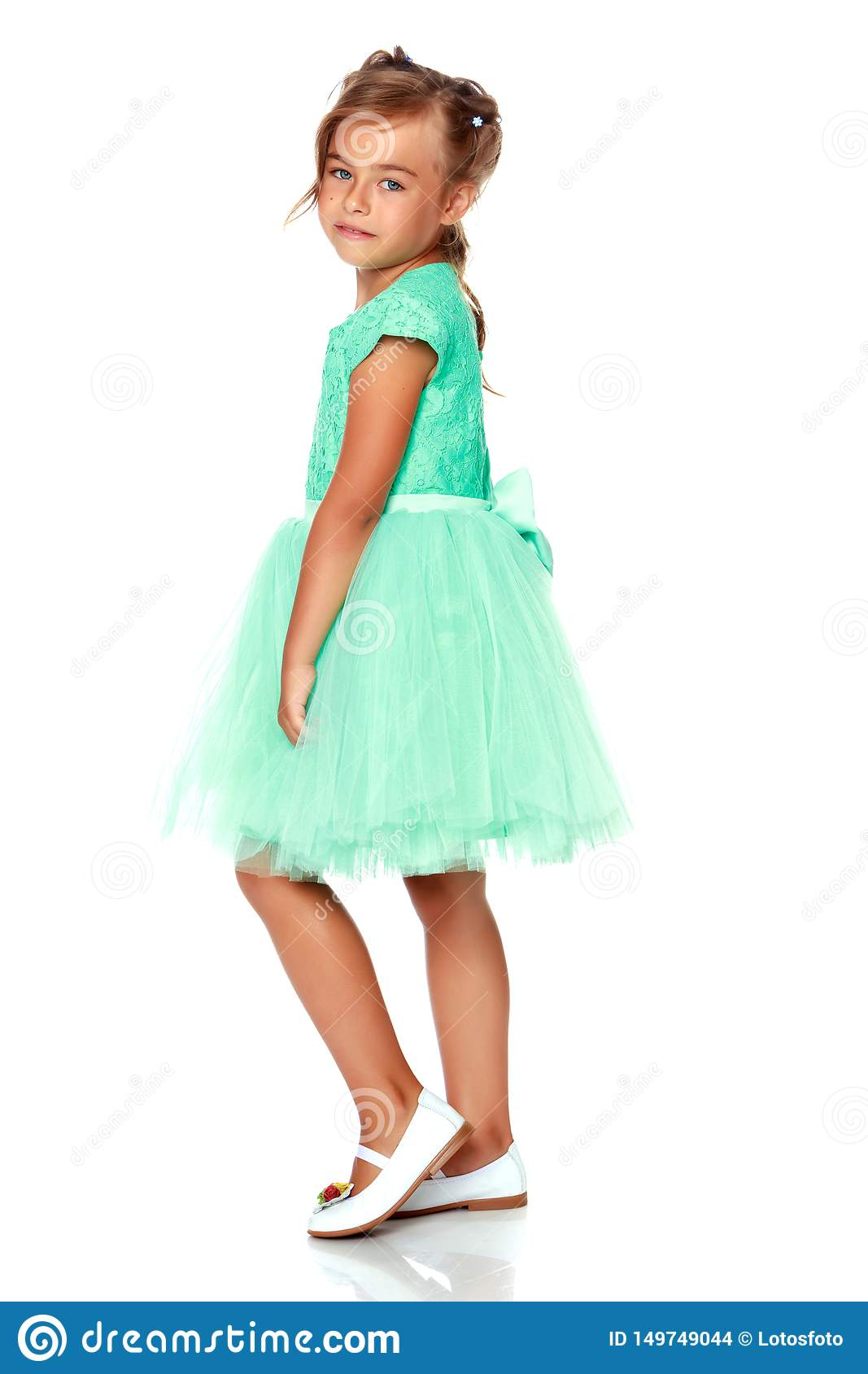 Fashionable Little Girl In A Dress Stock Photo - Image of lovely