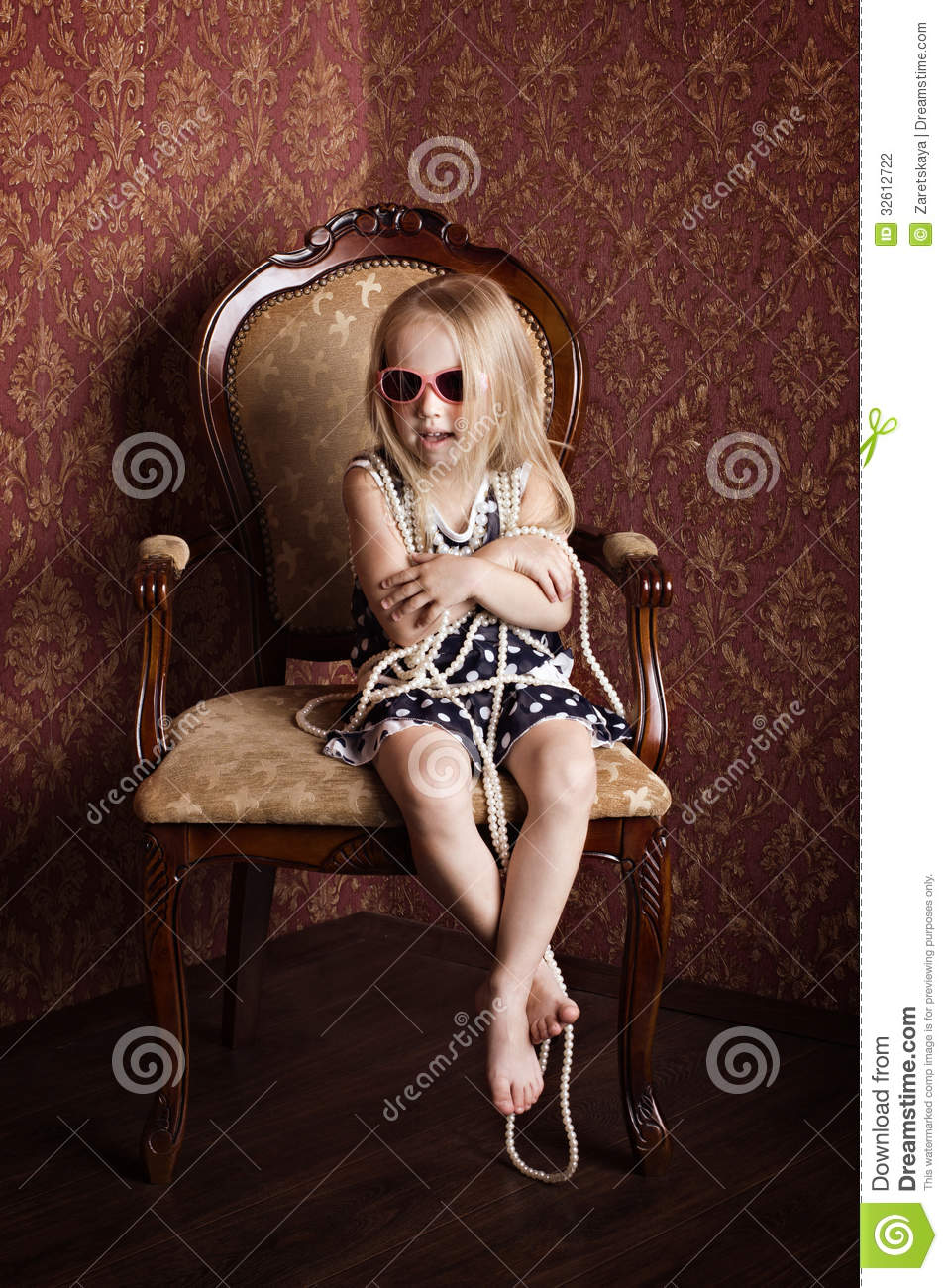 fashionable little girl stock photography image 32612722