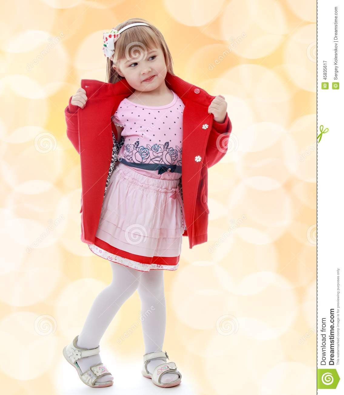 fashionable little girl stock photo image 45835617
