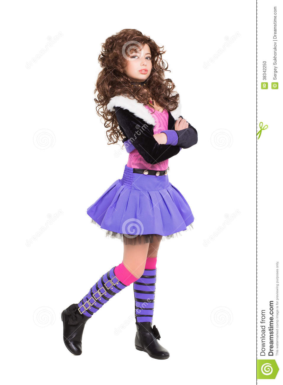 fashionable little girl stock photo image 38342250
